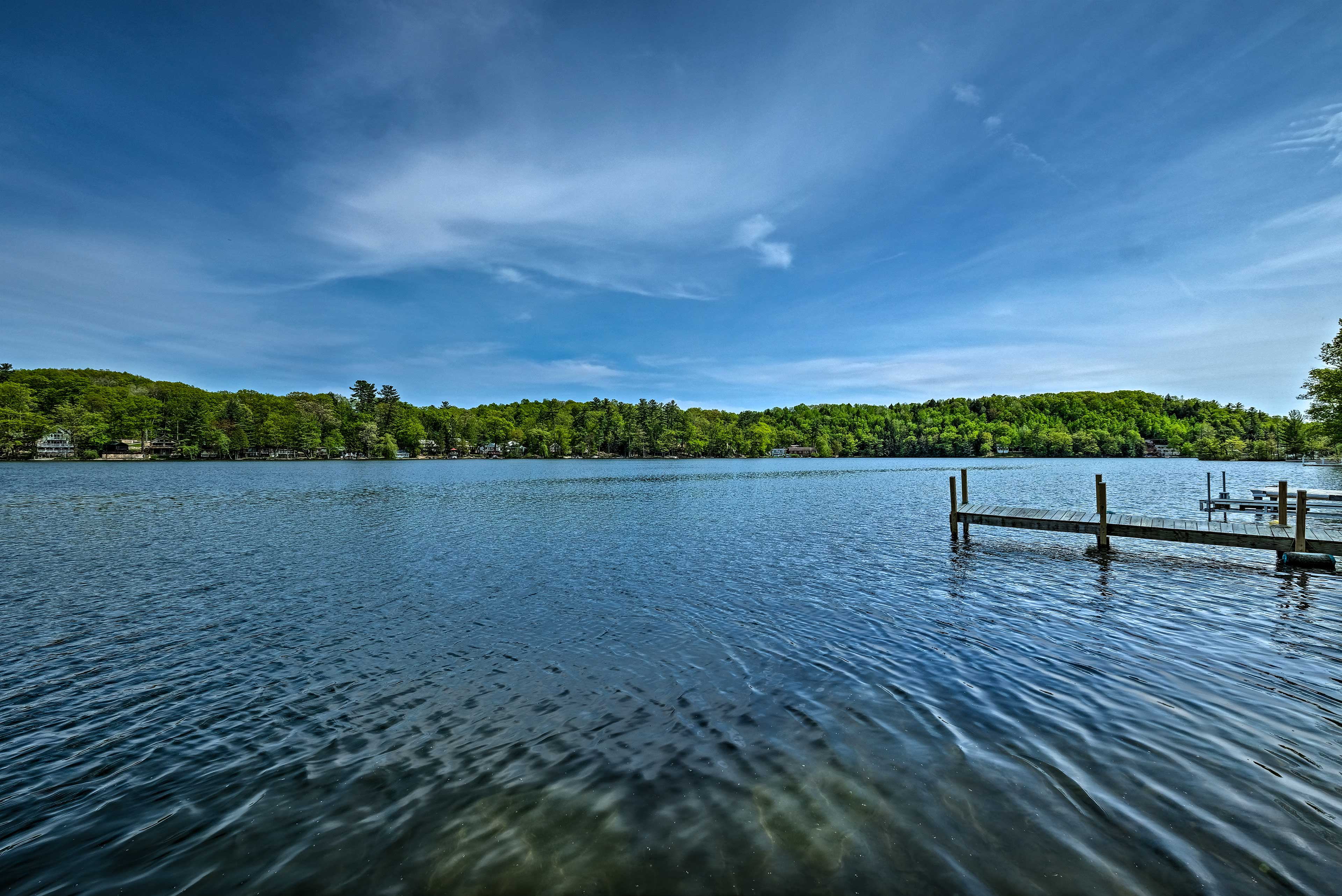 A dreamy lake view is right outside your cottage.