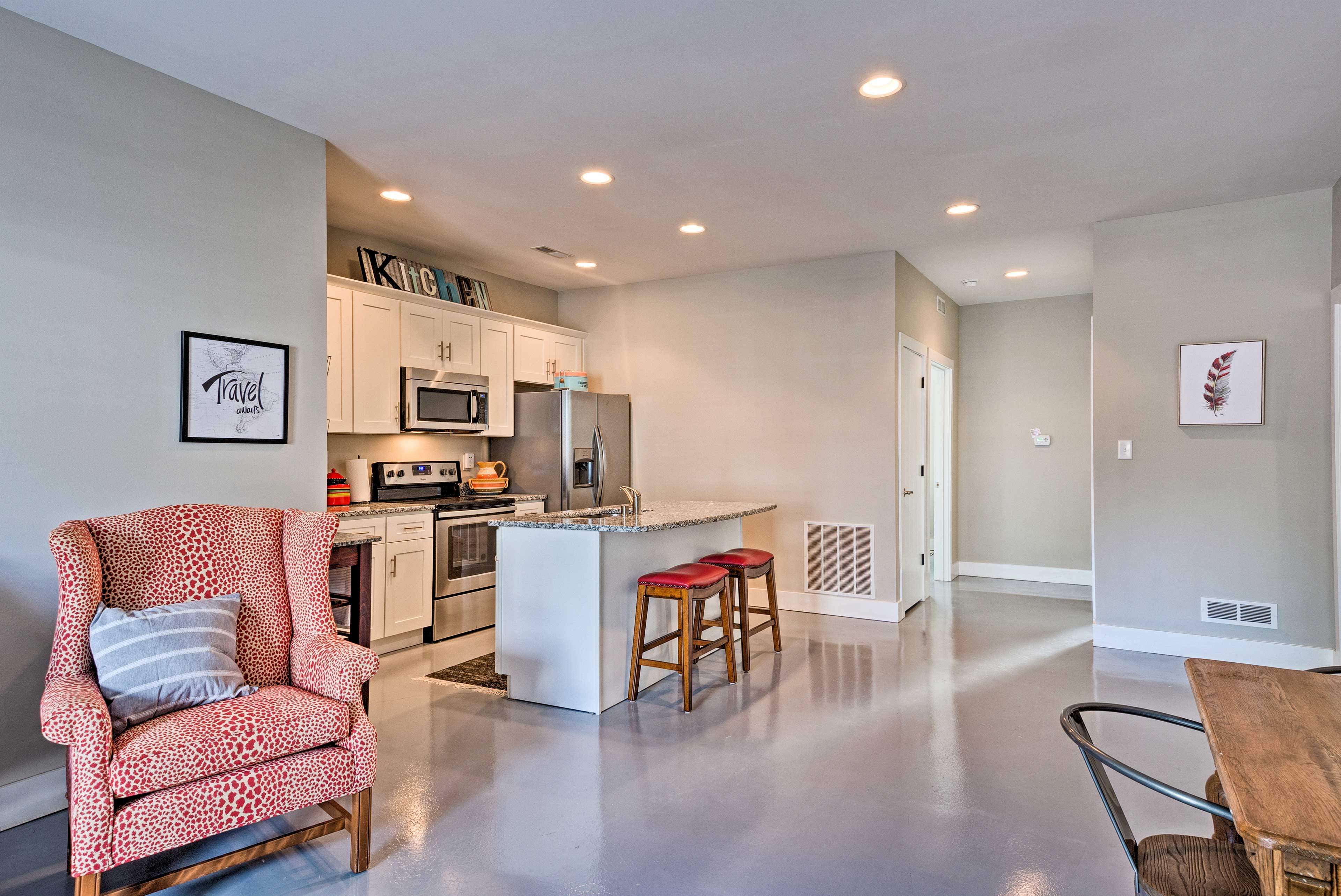 With an open floor plan, there is plenty of room to spread out.