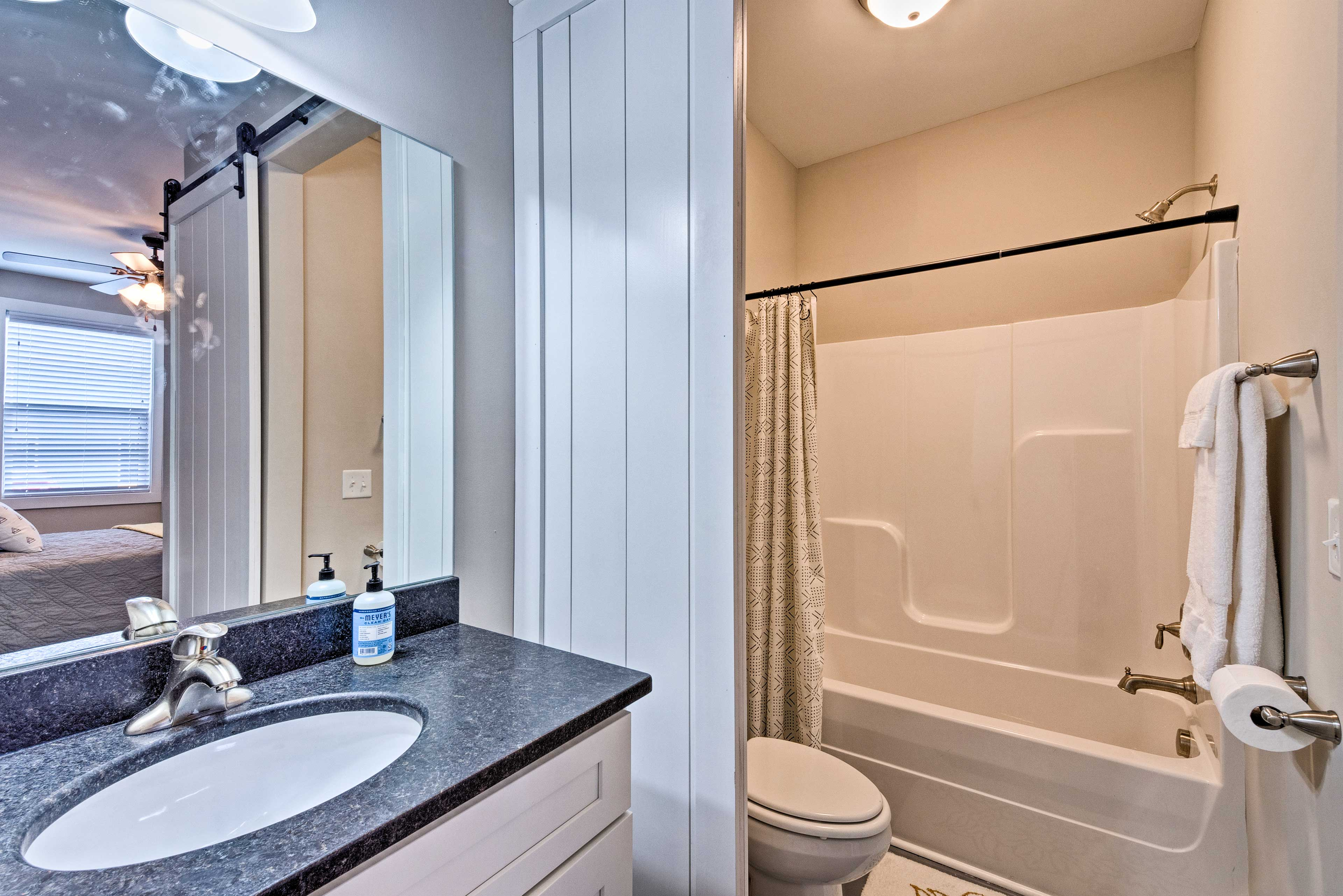 Get ready in the en-suite bathroom each morning.