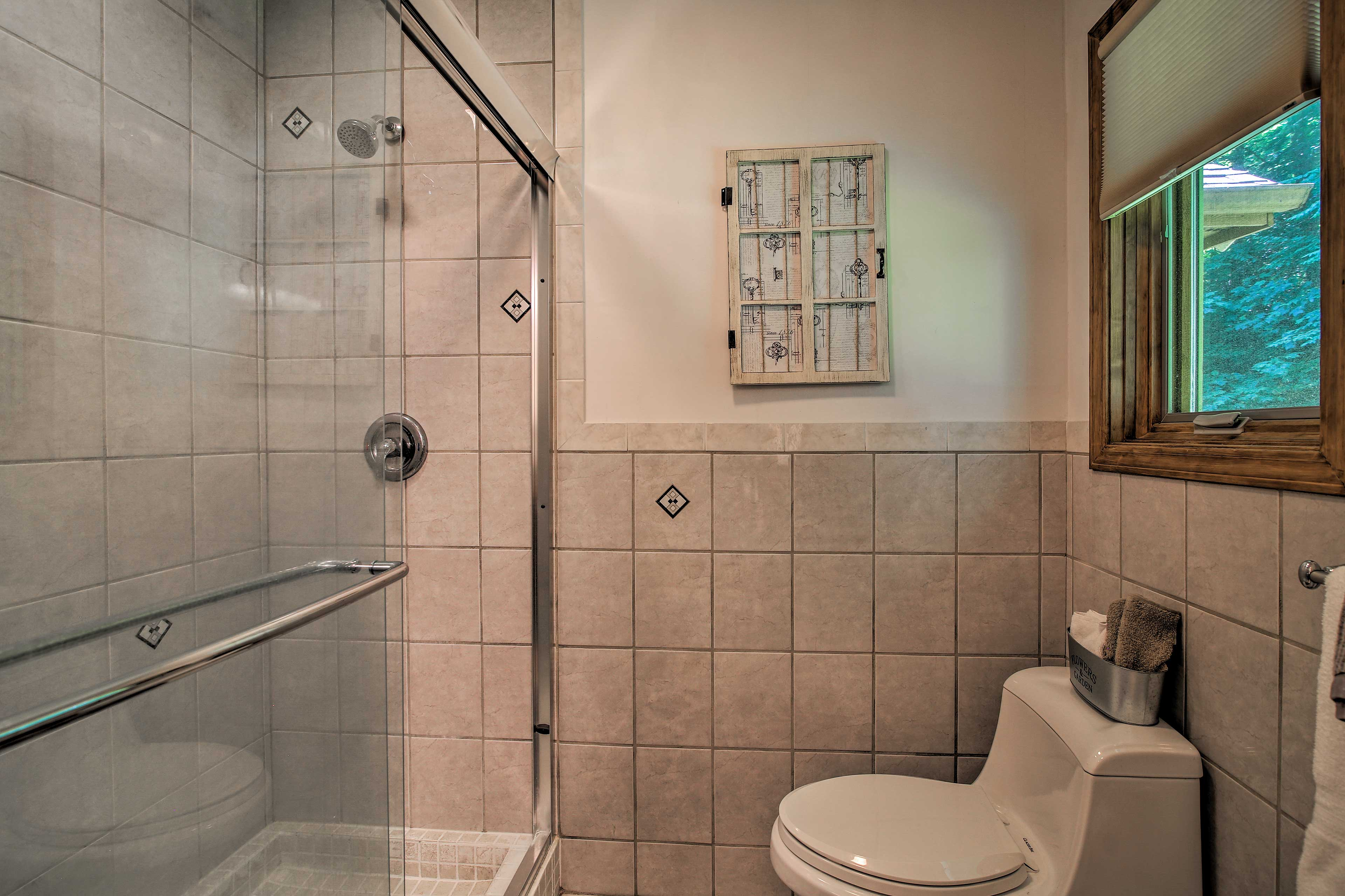 After a day of hiking, you'll relish a hot shower.