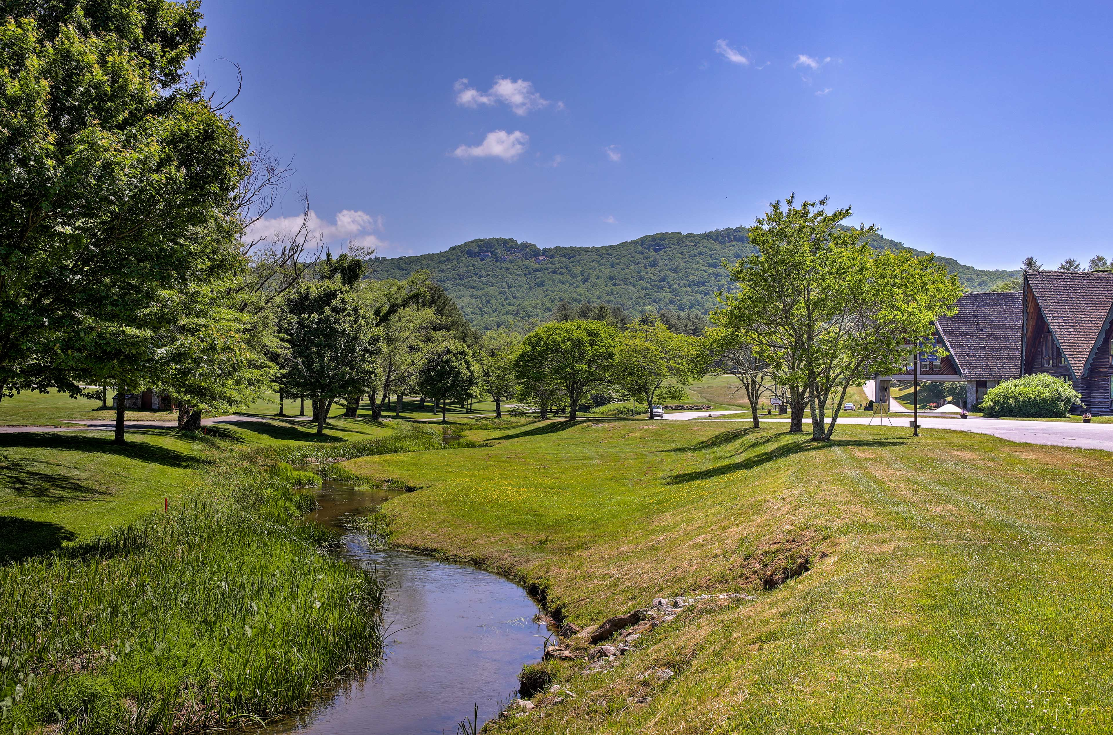 The Georgia mountains await at this scenic Sky Valley home!