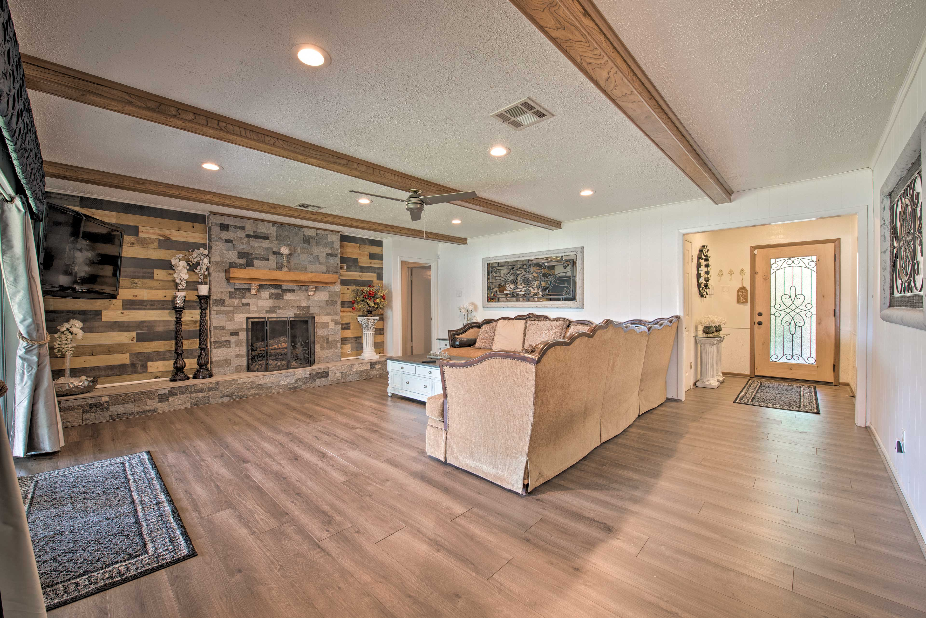 Unwind in the large living area.