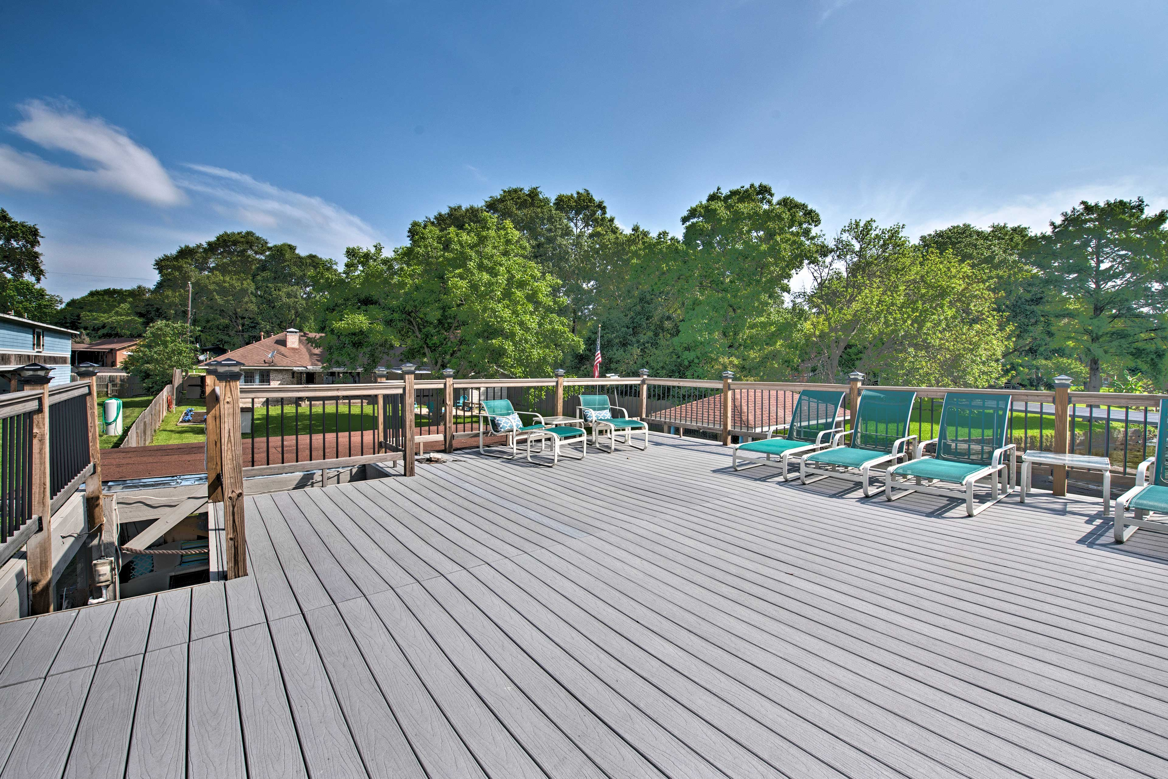 Soak up the rays on the rooftop sundeck.