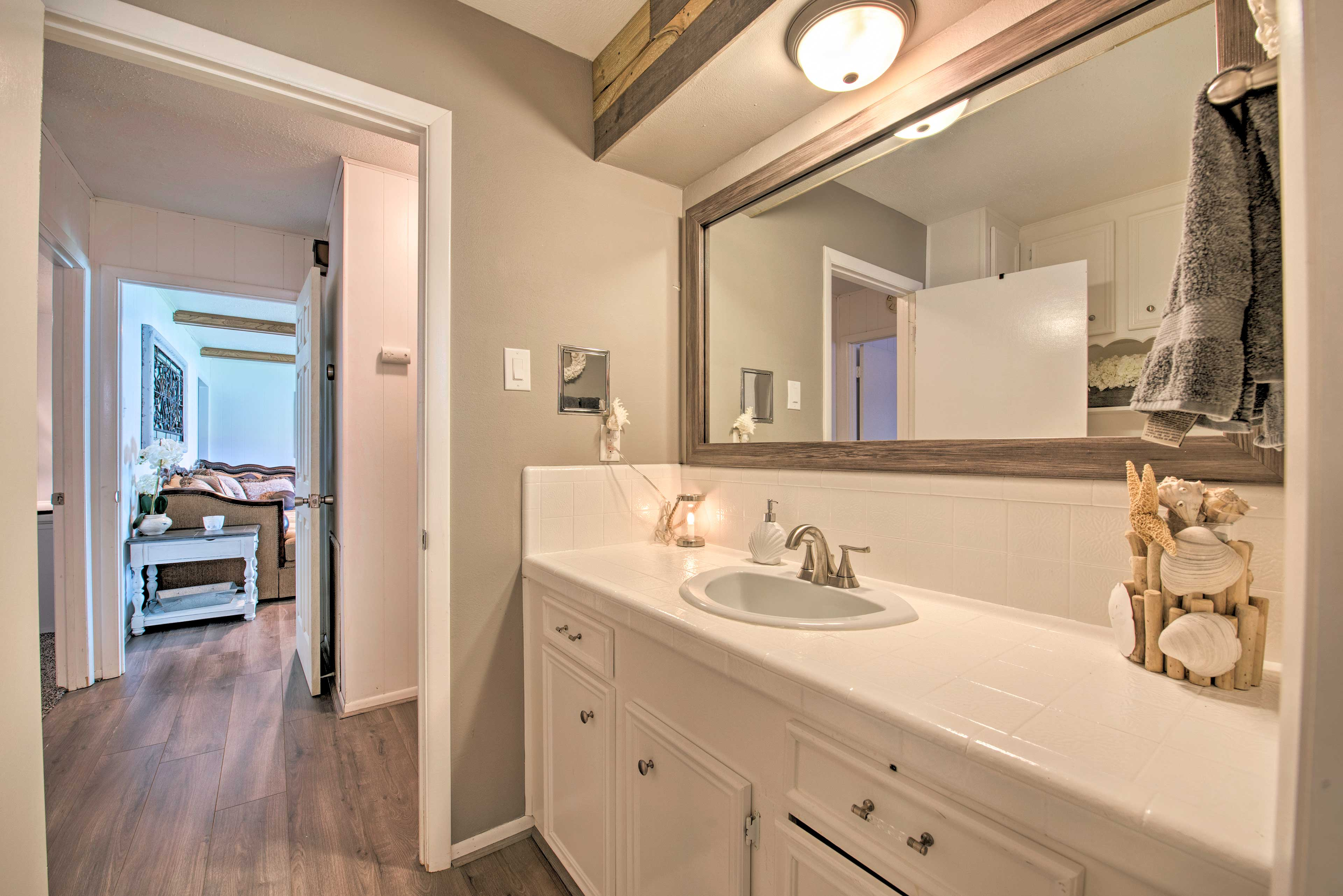 That half bath is ideal for visitors.