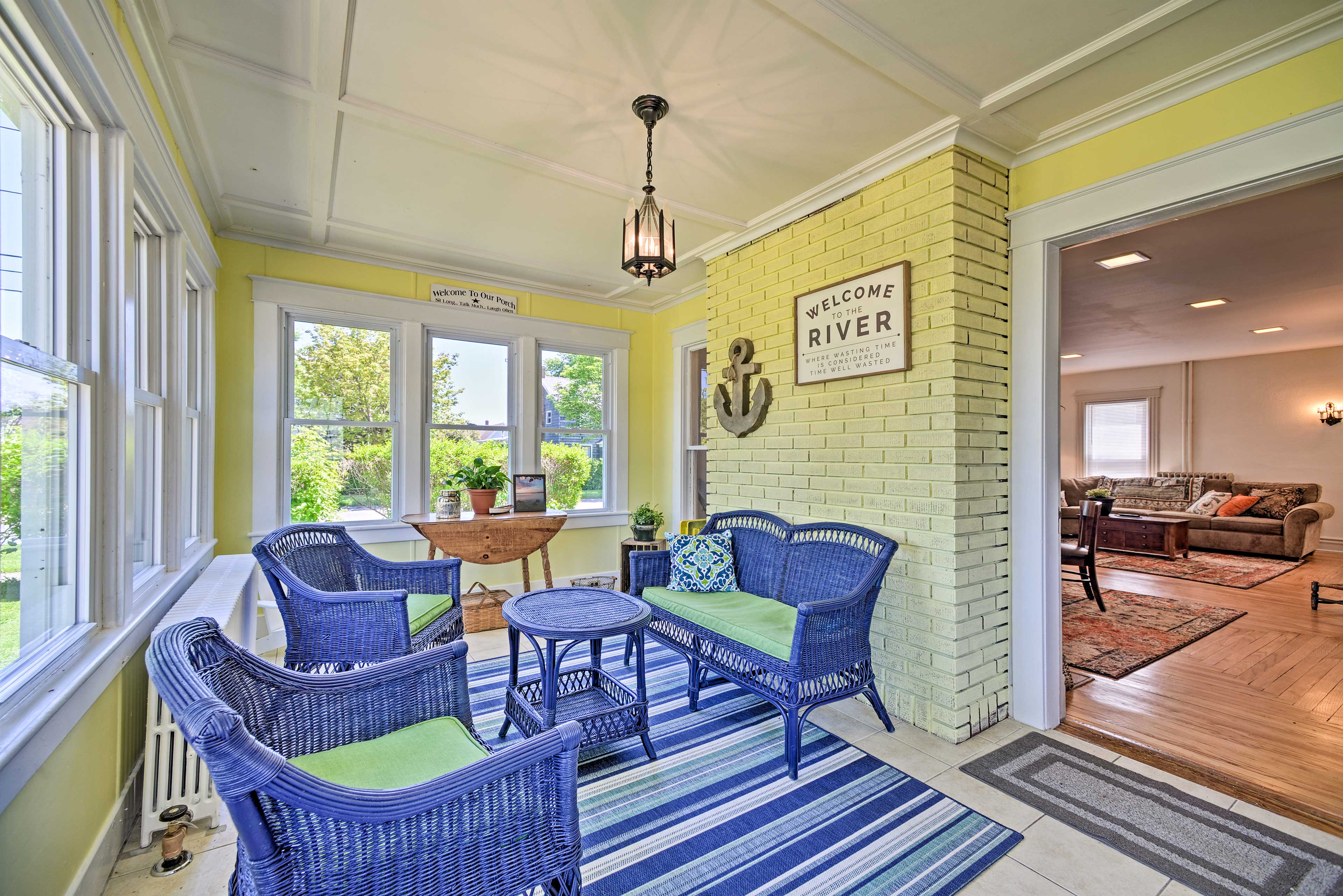 You'll love spending time in the porch.
