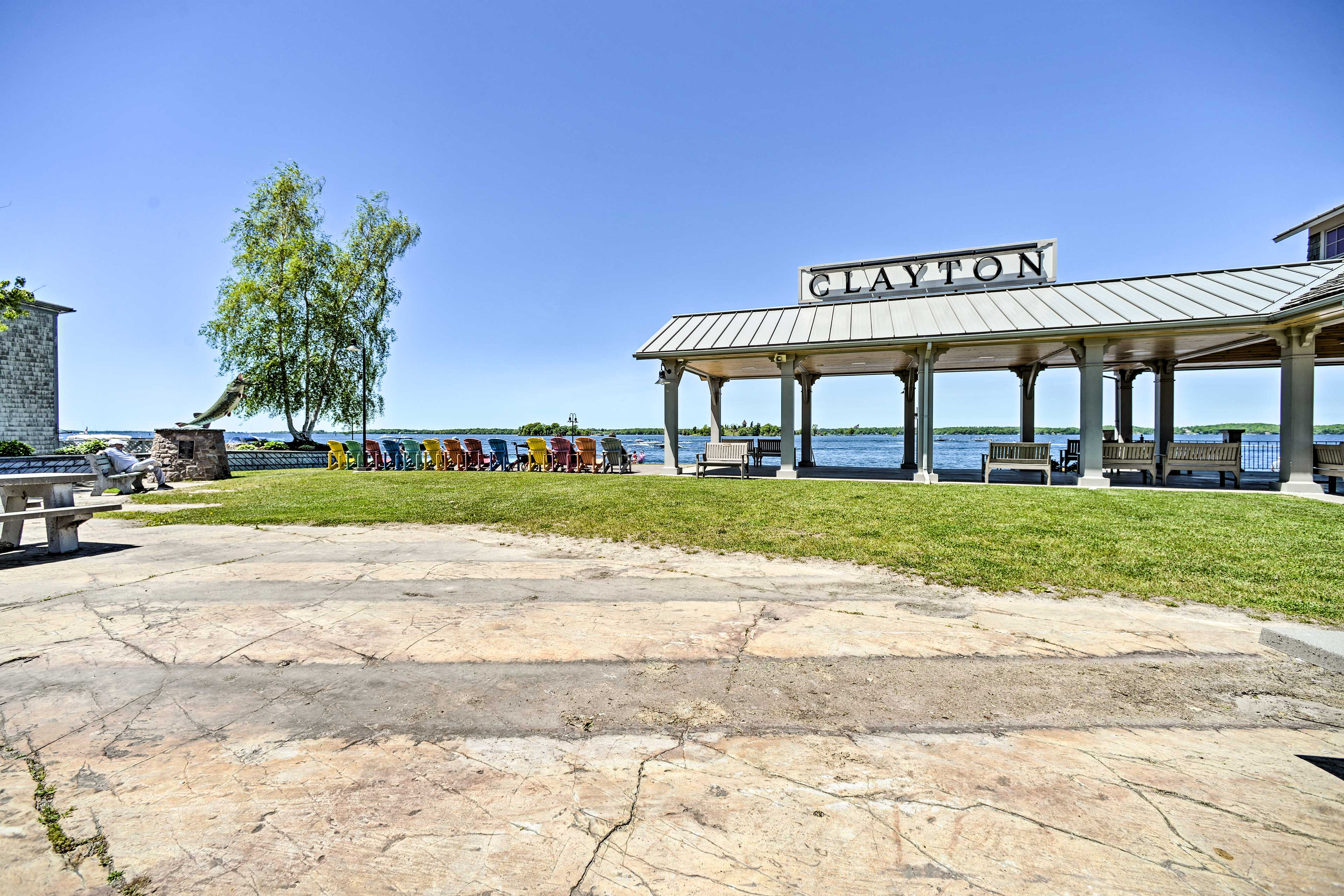 Frink Park and the Clayton Harbor Municipal Marina are just a short walk away!