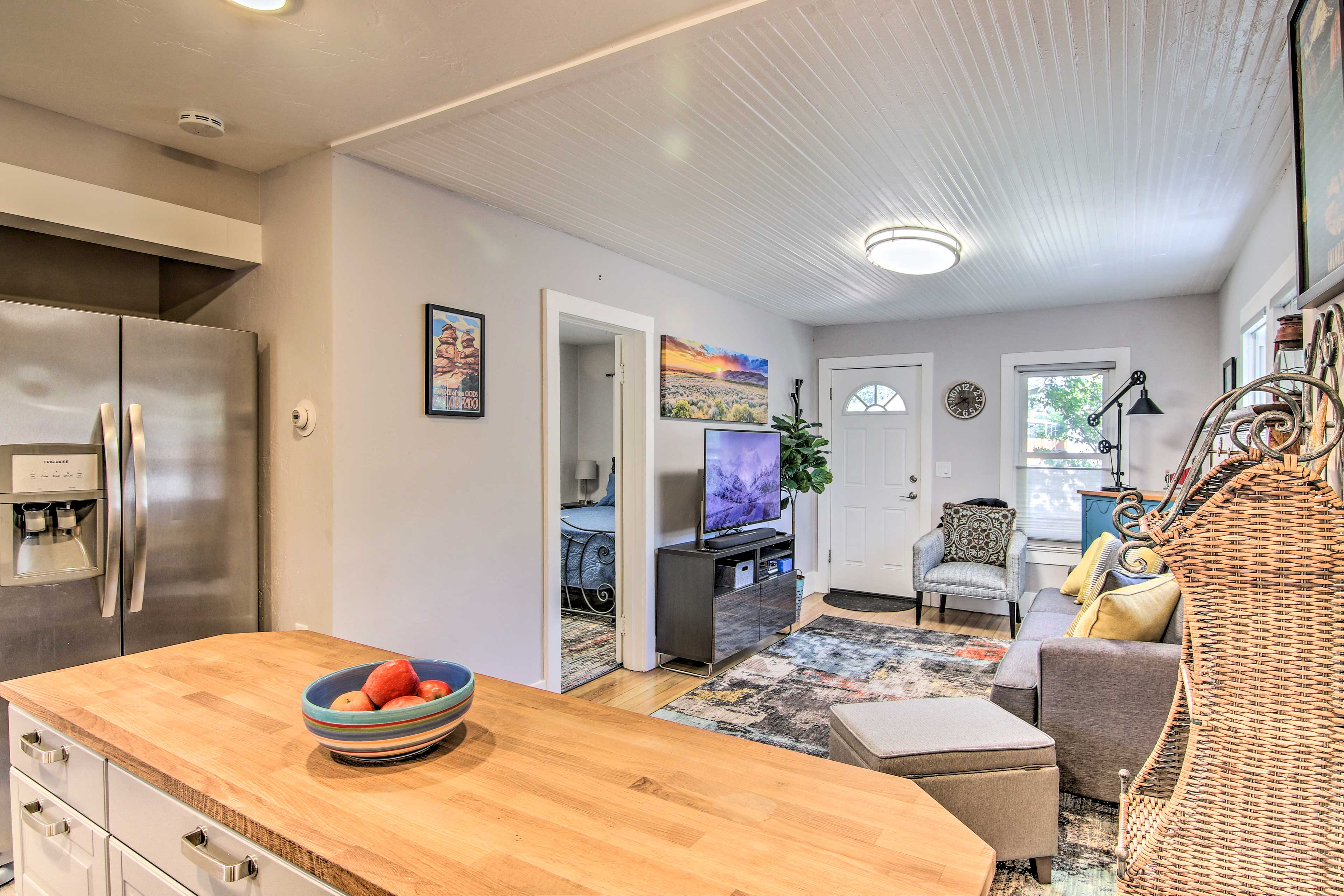 The open floor plan allows the home to feel open and inviting.