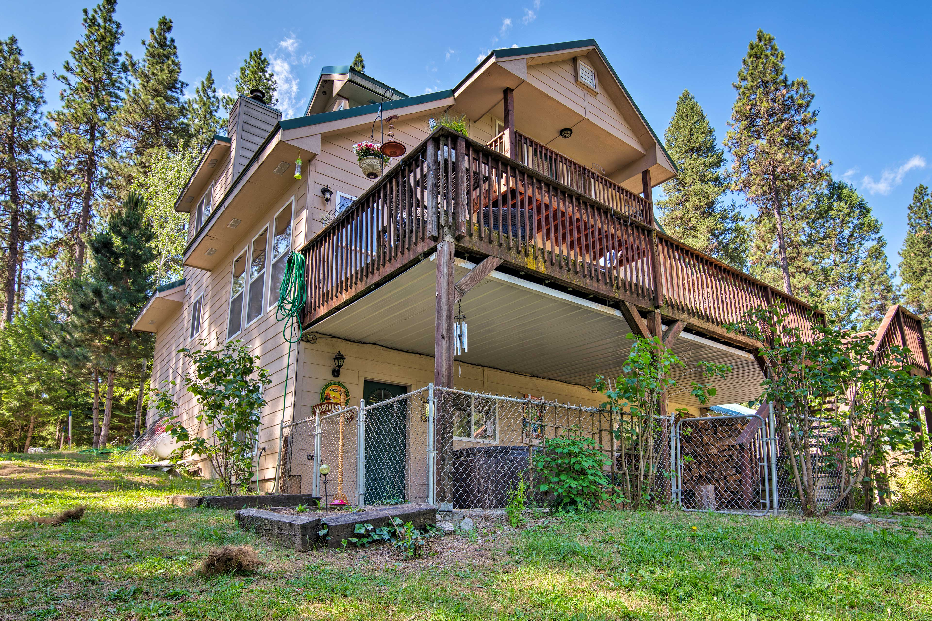 This three-story Garden Valley abode is the perfect escape for large groups.