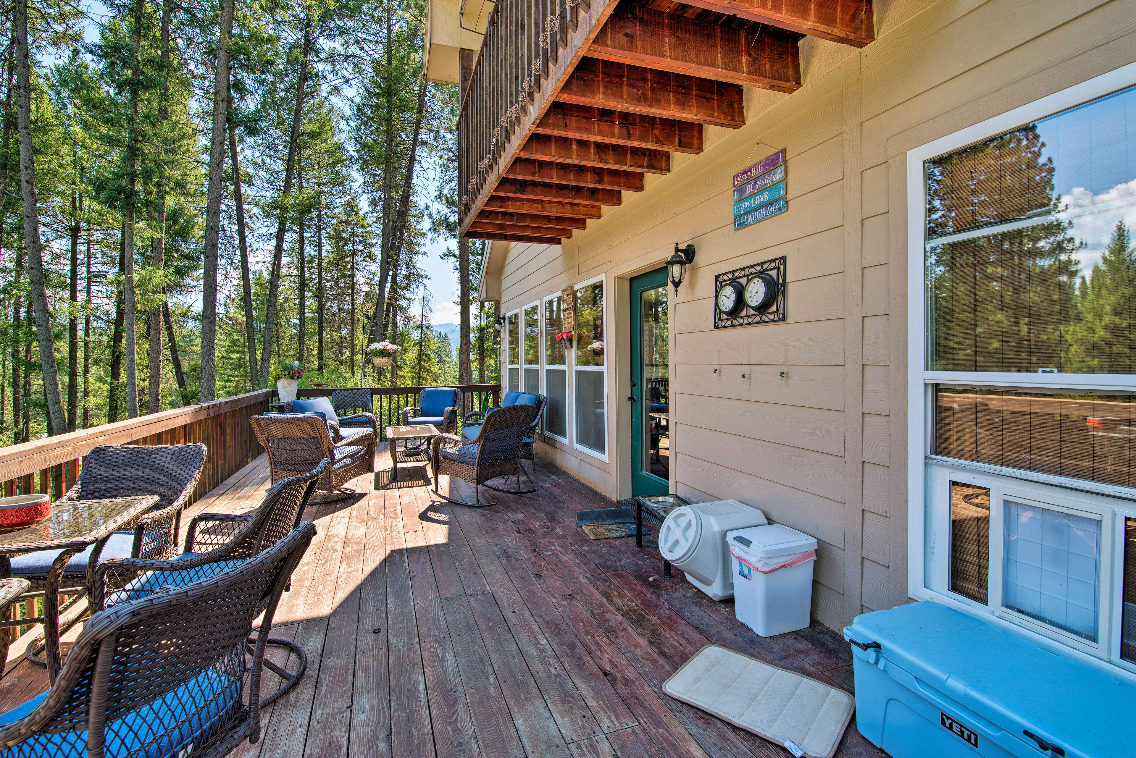 There's no better place for an afternoon social than the large deck.