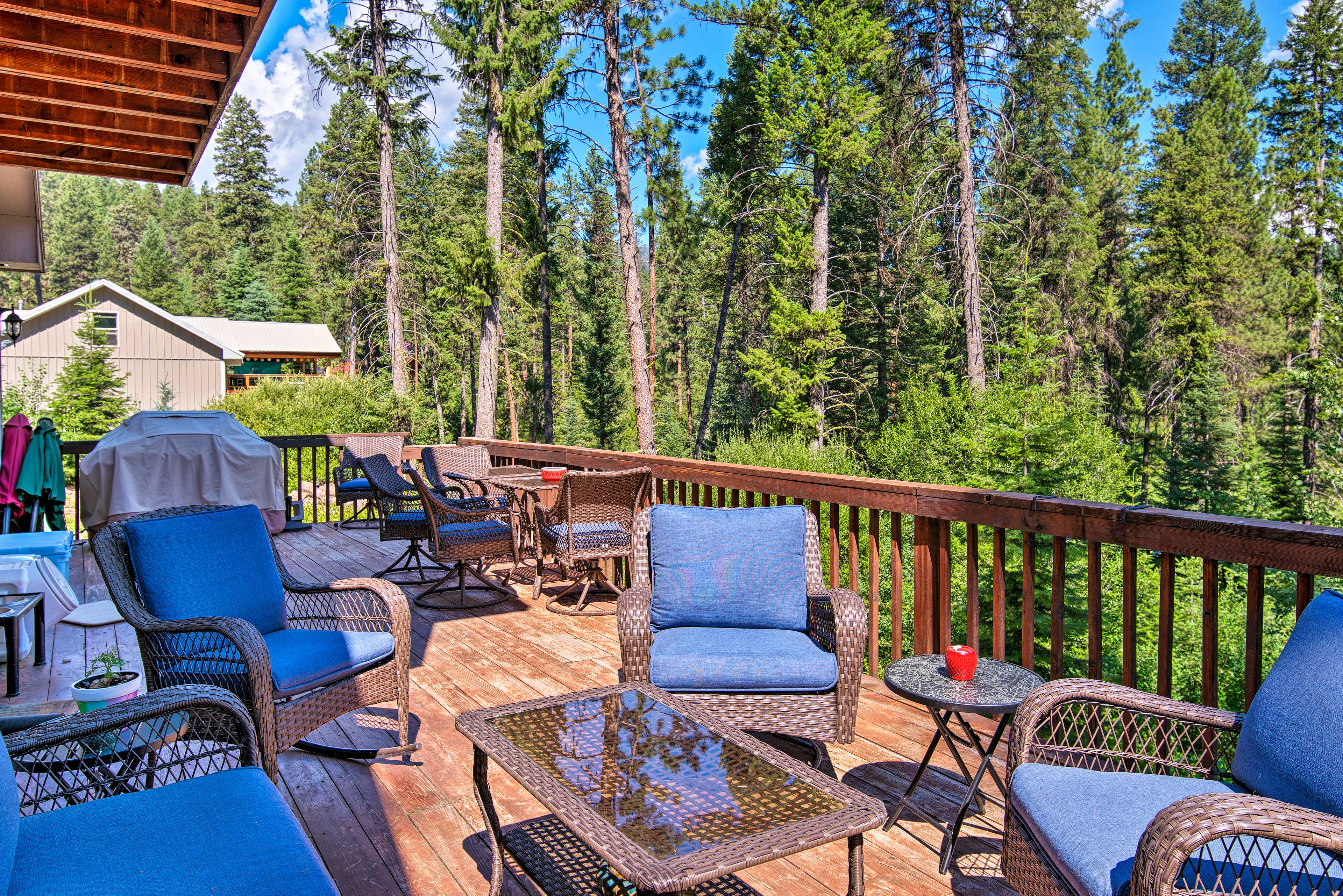 The expansive lower-level deck is perfect for outdoor relaxation.