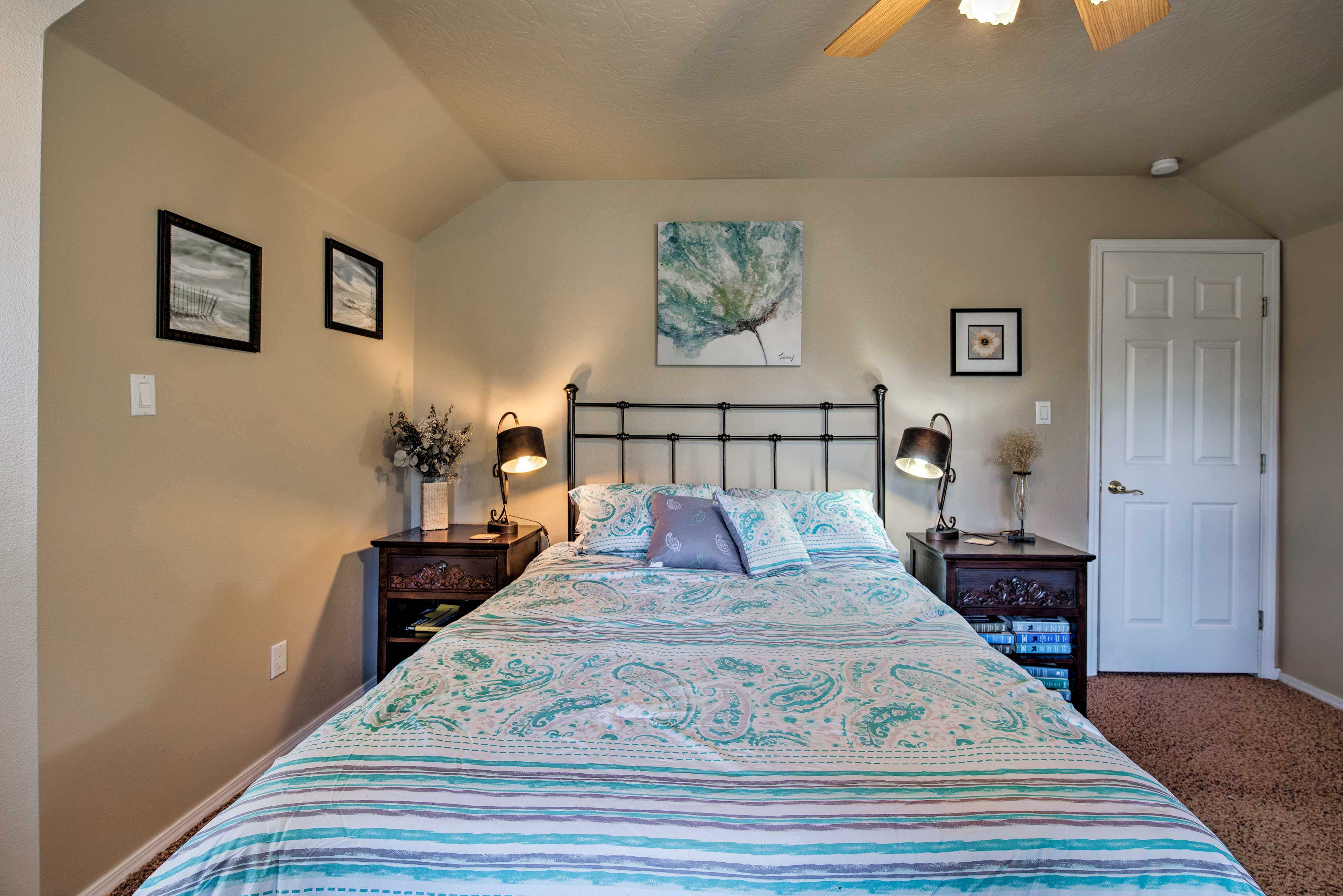 The third bedroom offers an additional queen-sized bed for 2.