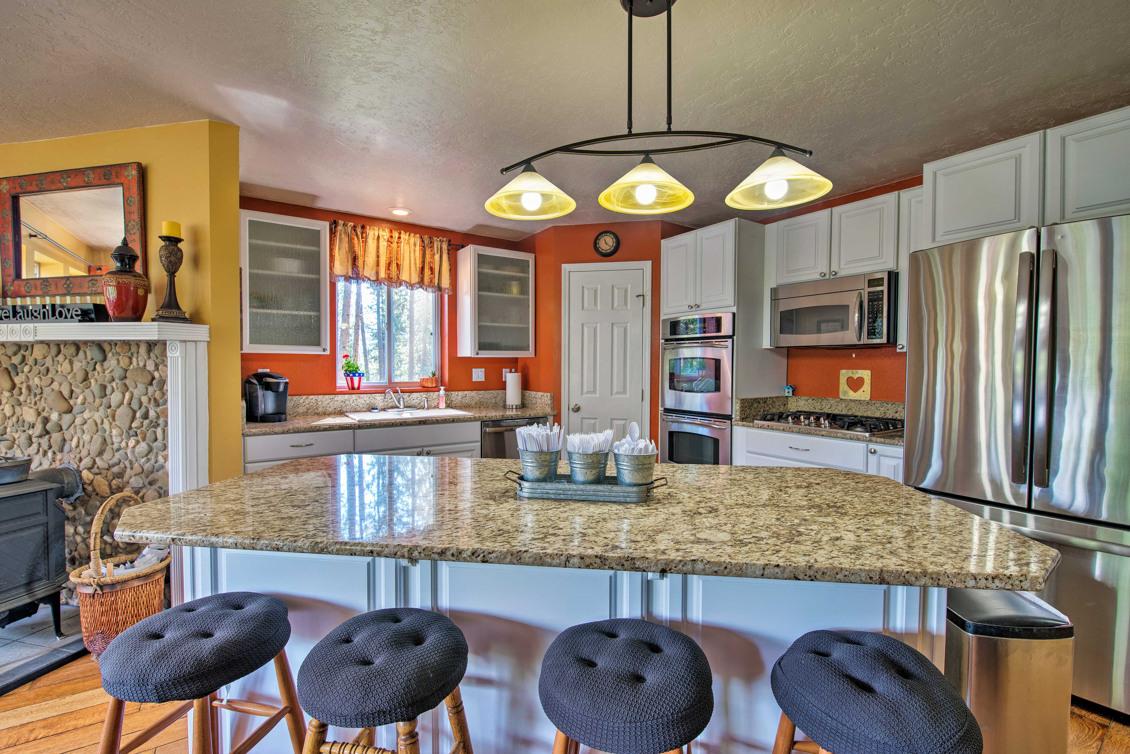 The property features an updated kitchen and high-end amenities.