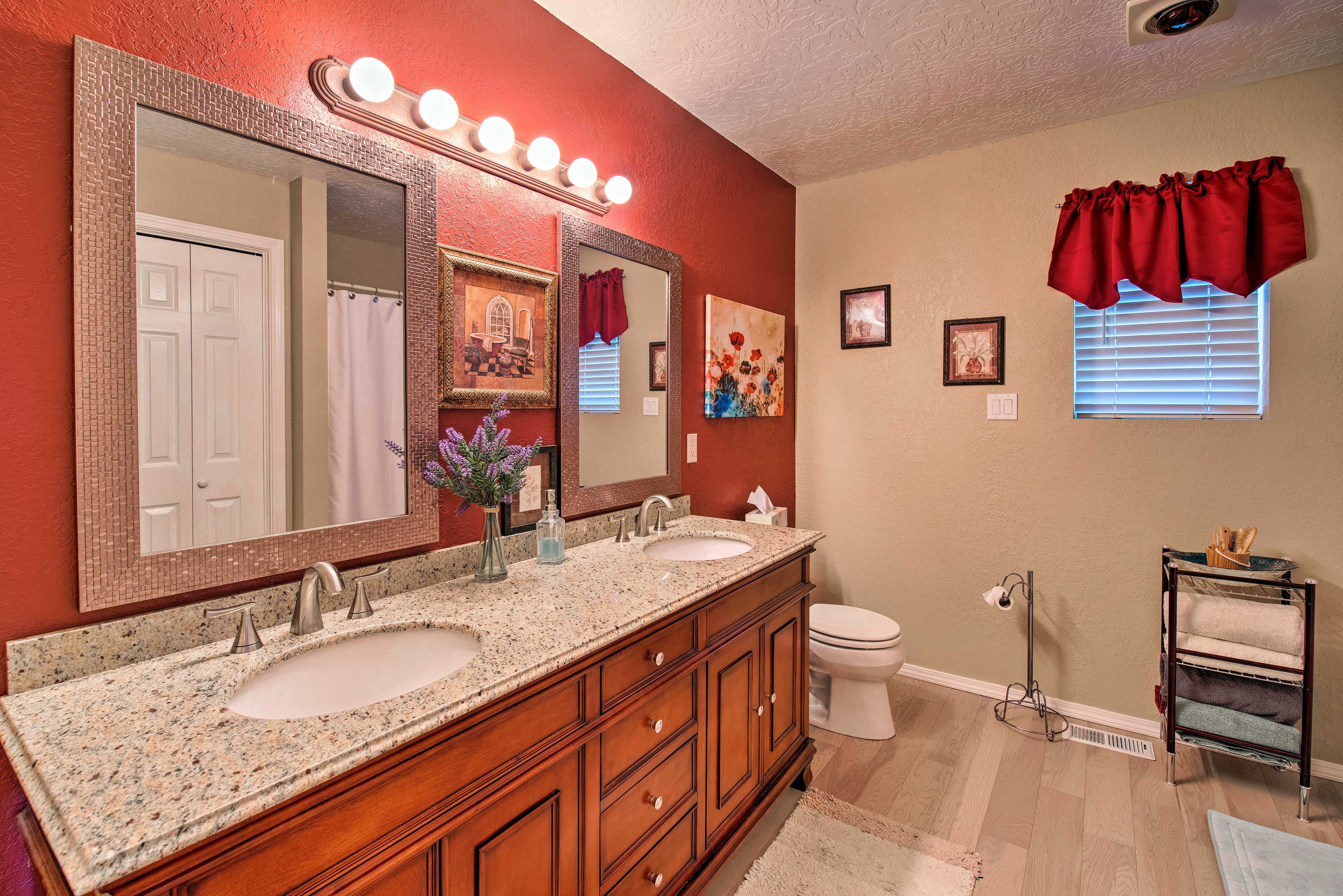 A second full bathroom provides added privacy to your crew.