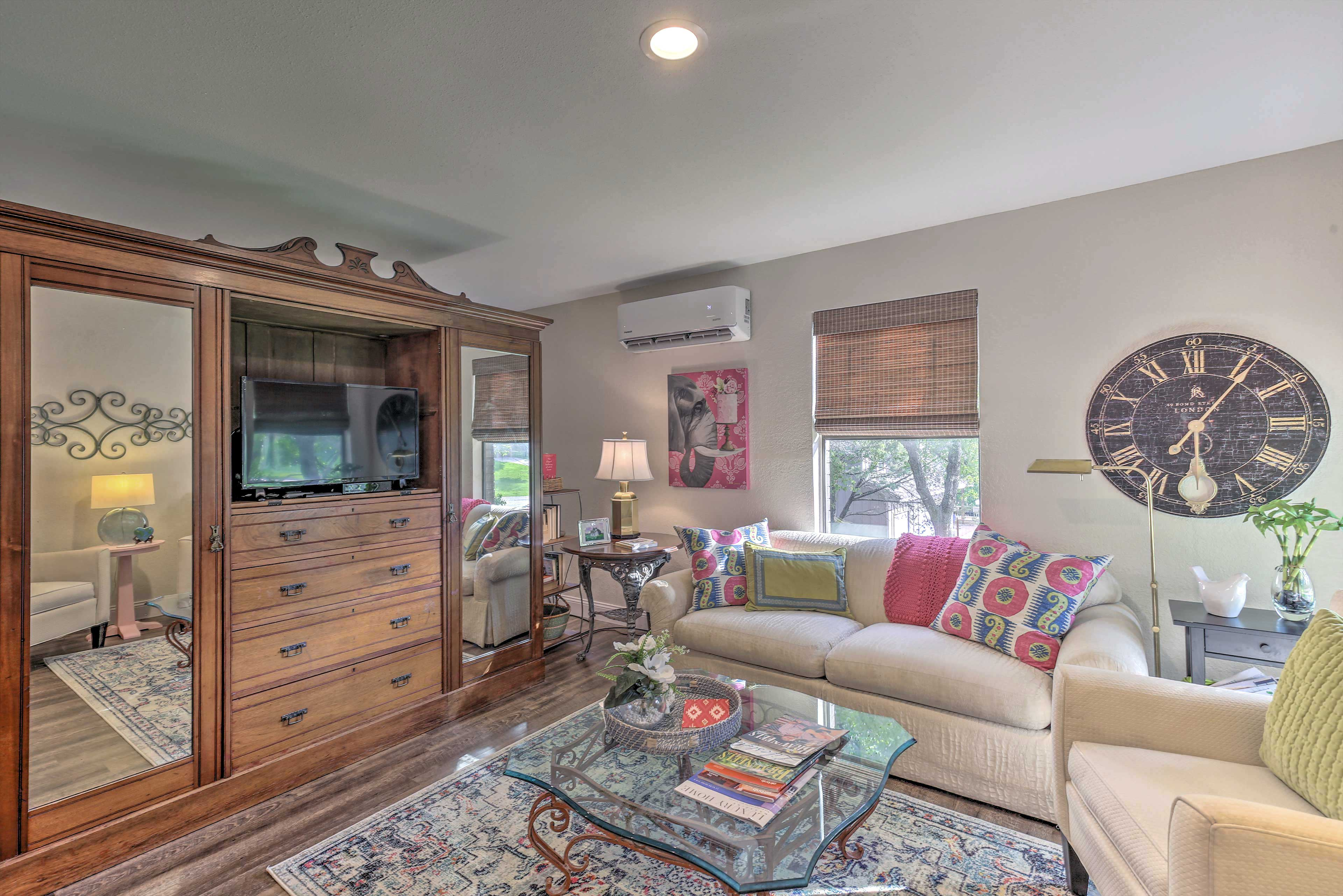 New Braunfels Vacation Rental | Studio | 1BA | 625 Sq Ft | Stairs Required