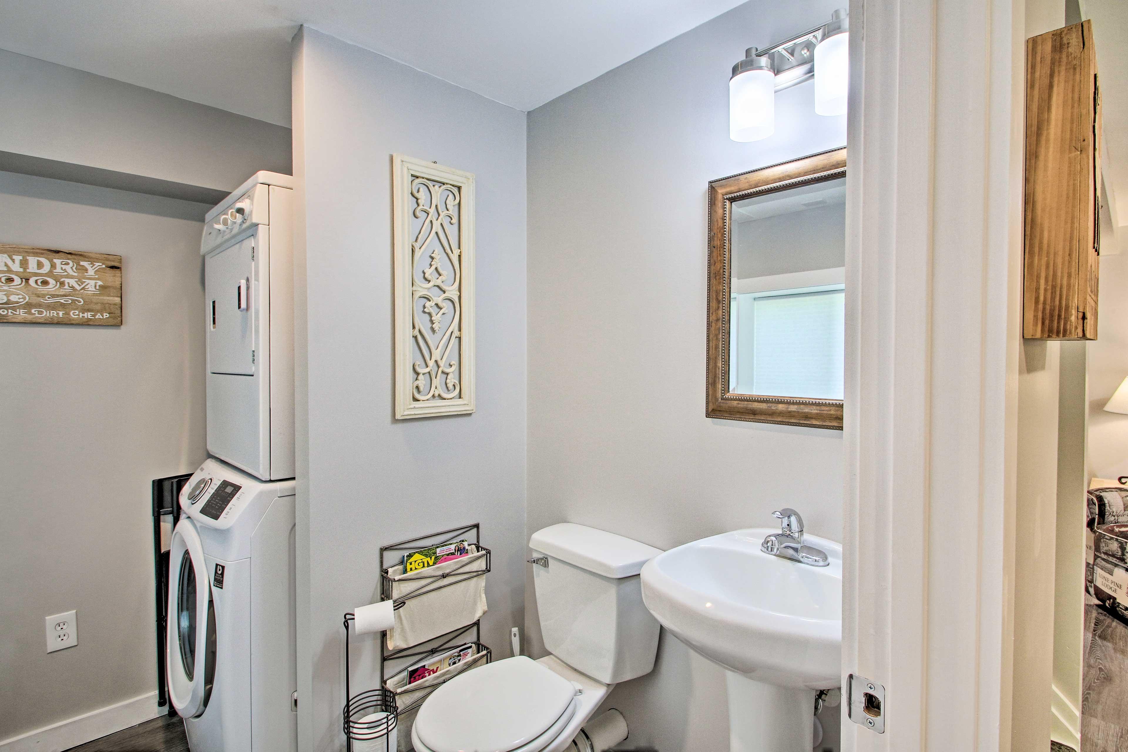 The home also conveniently includes a half bath.