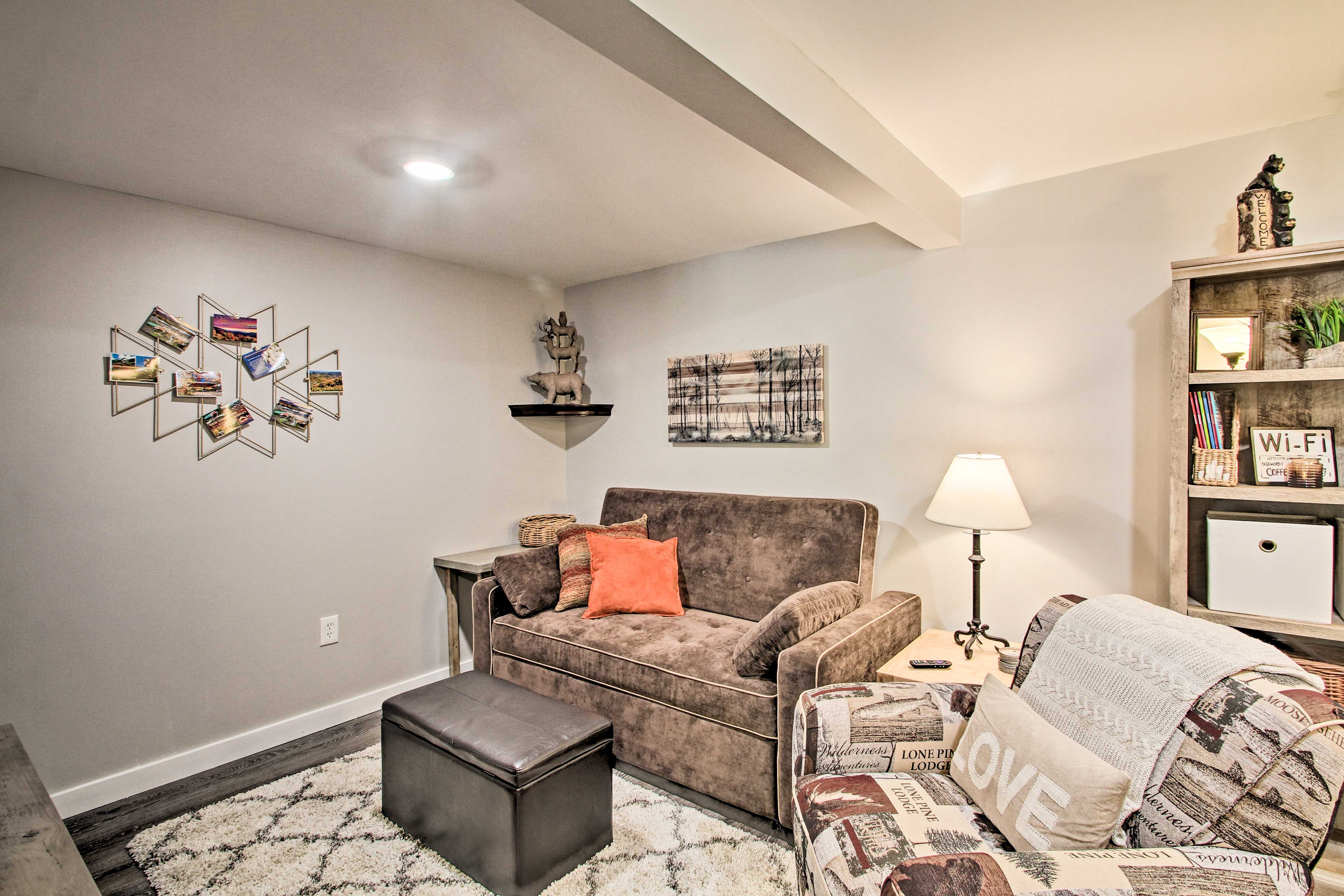 The home includes a lower & upper, both with modern & comfortable furnishings.