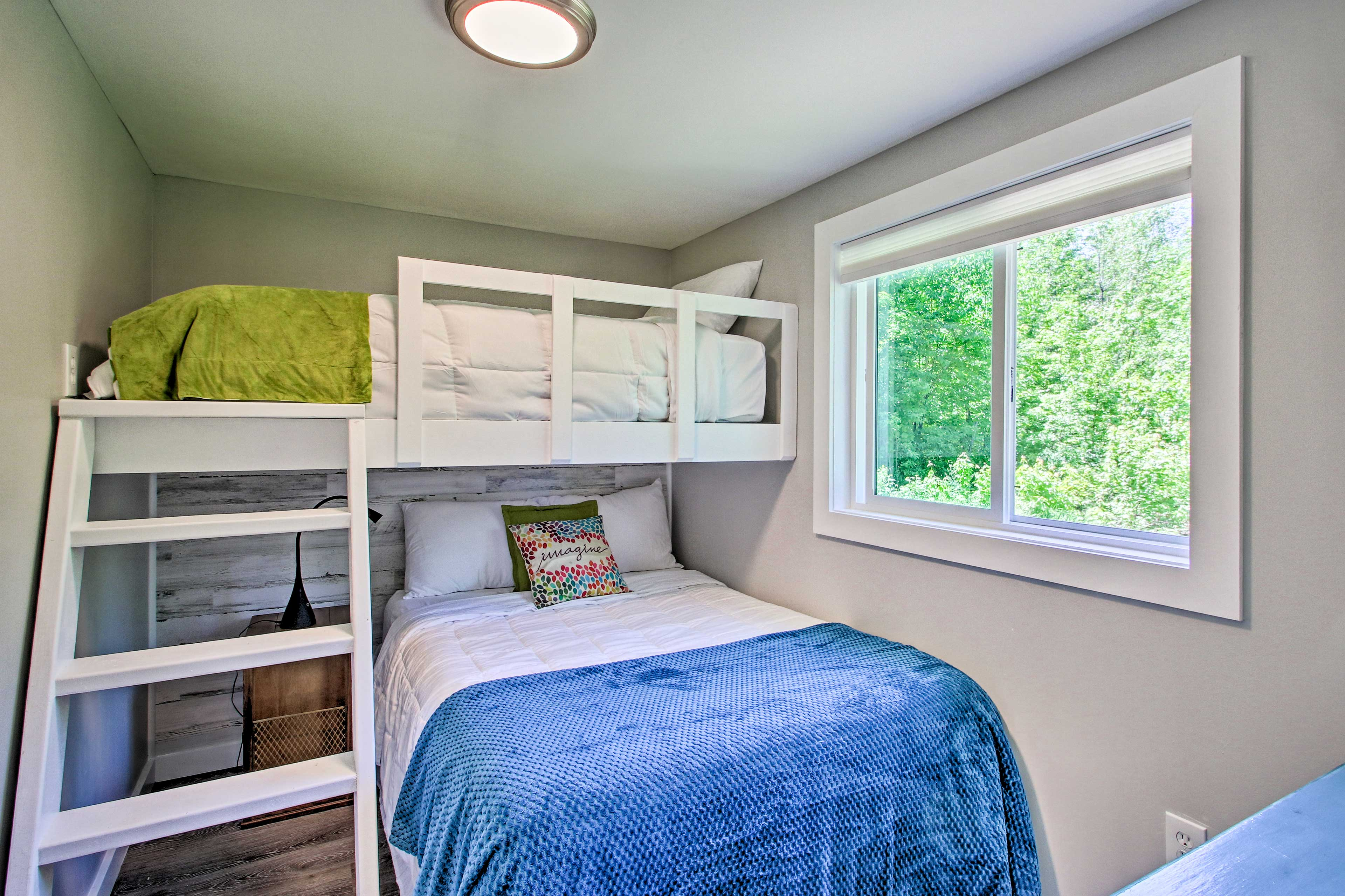 The second bedroom is perfect for your kids.