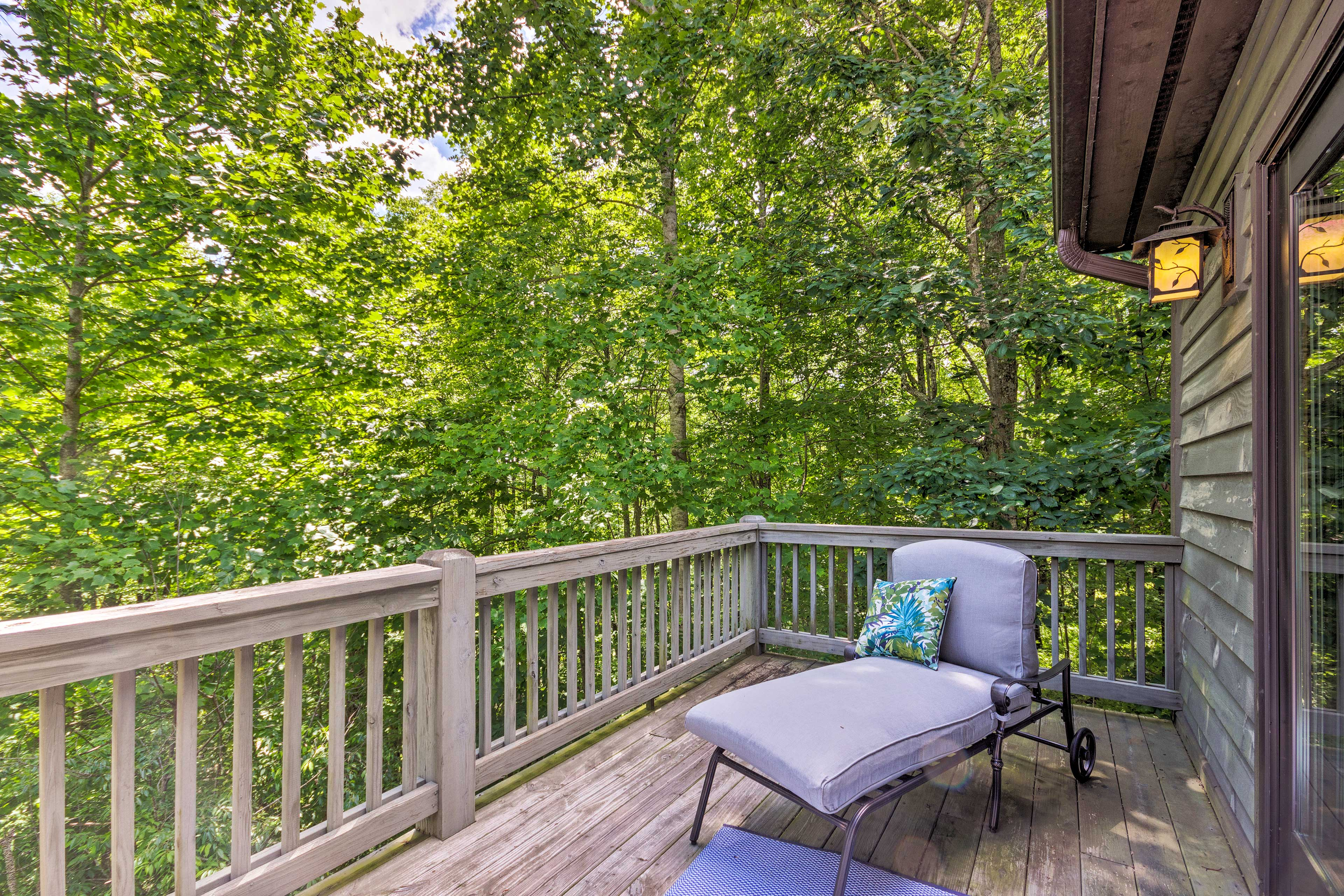 Soak up the afternoon sun on the master bedroom deck.