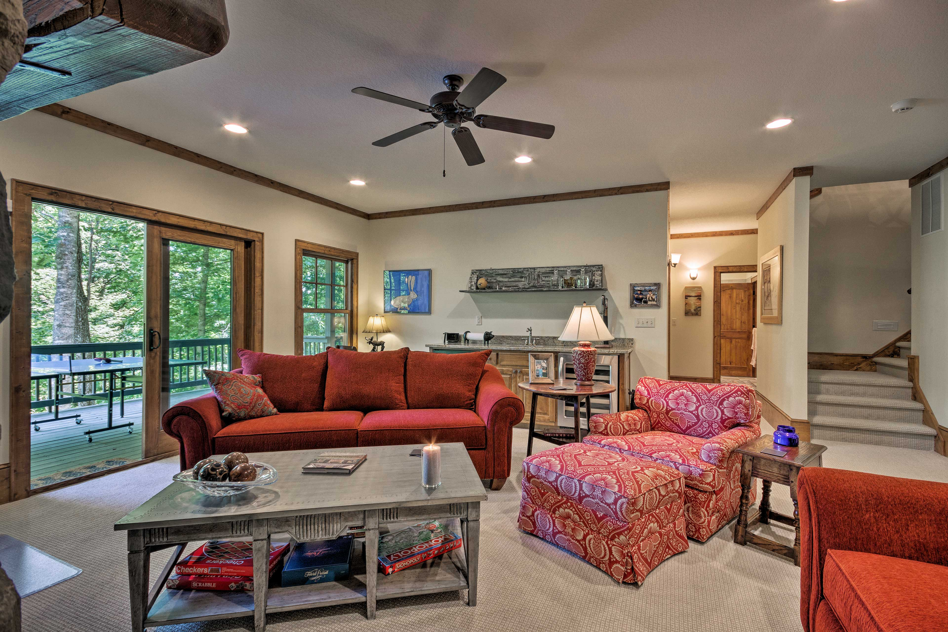 The home features an additional living room.