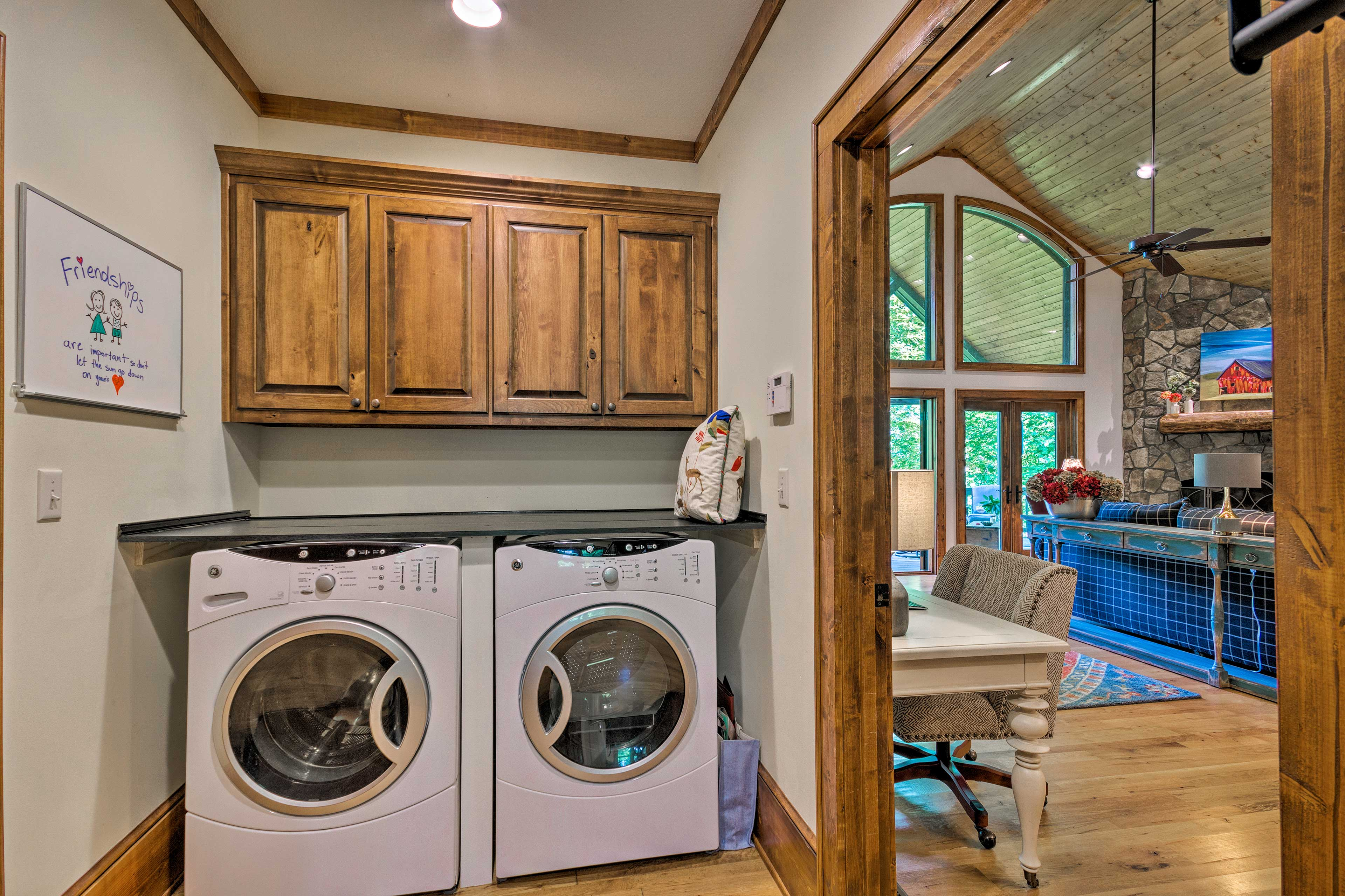 Utilize the washer and dryer during your stay.