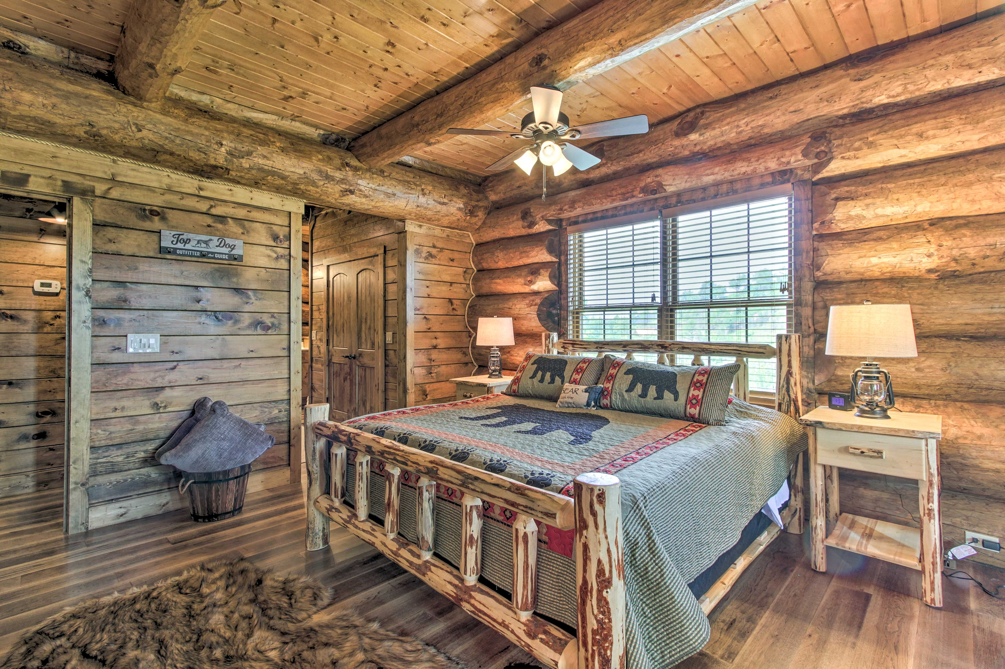 Couples will love curling up here for a peaceful night of rest.