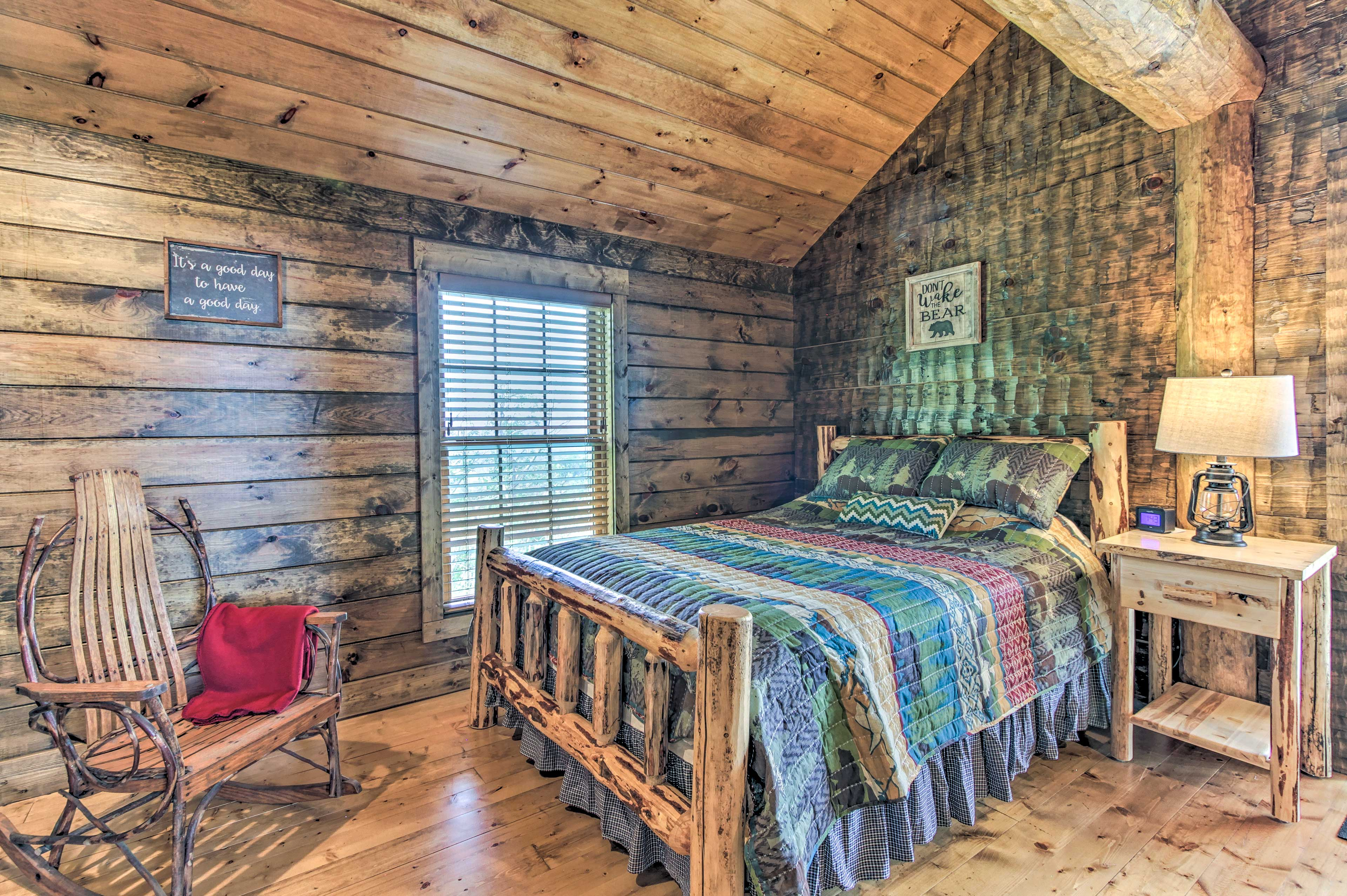 This second bedroom offers a queen bed.