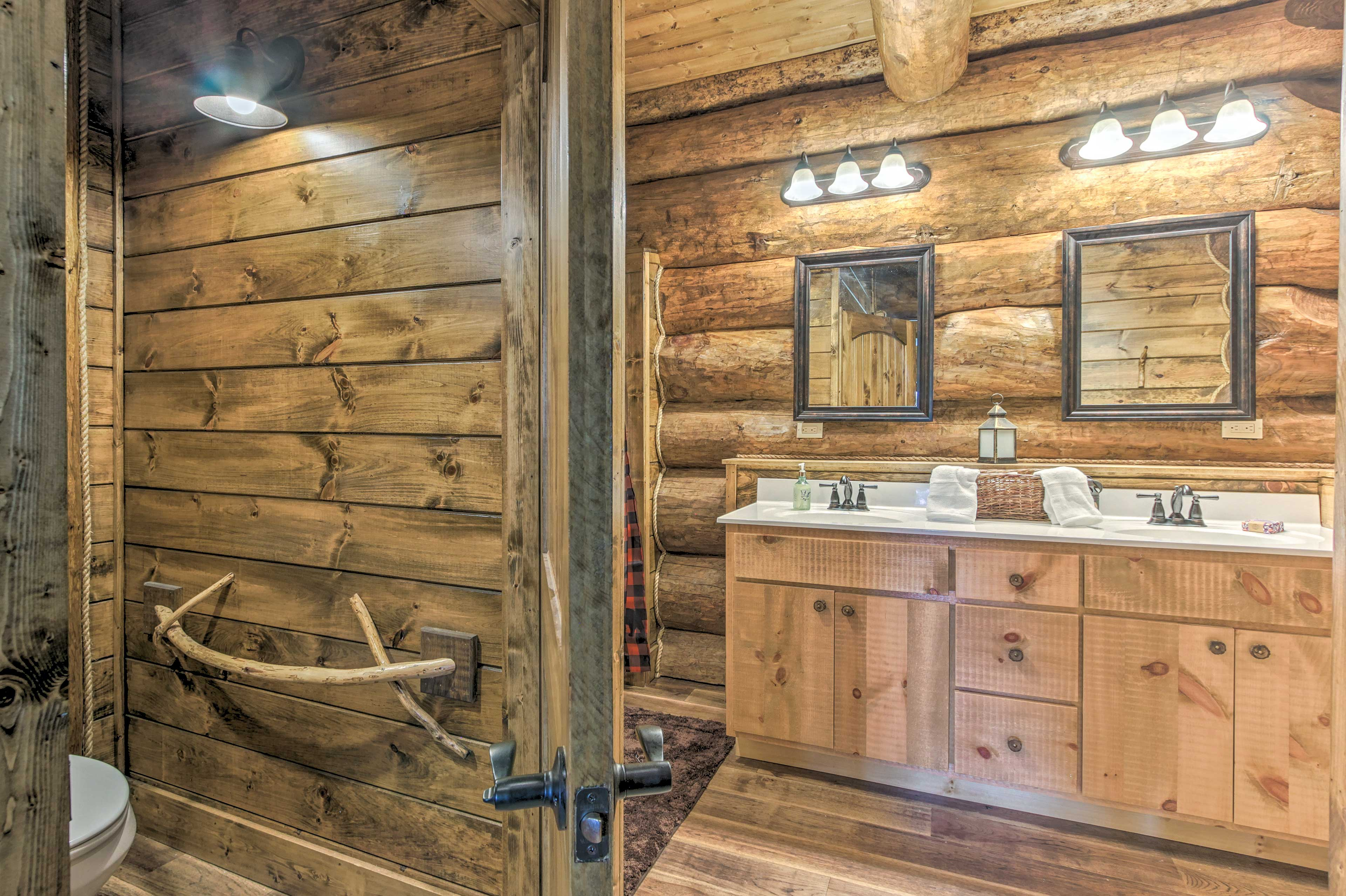 Couples will love this bathroom, complete with dual sinks.