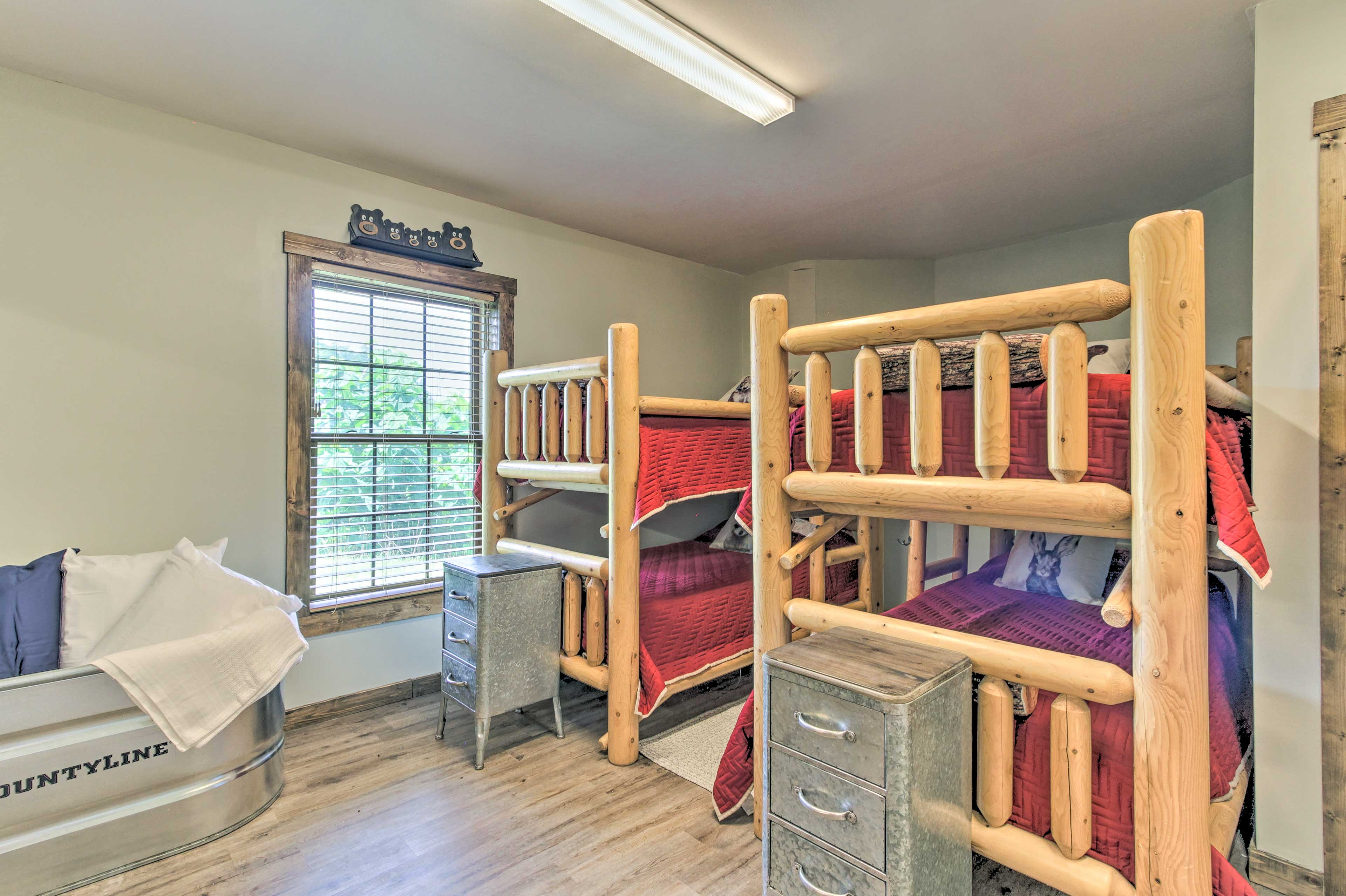 Kids can flip coins for top bunk!