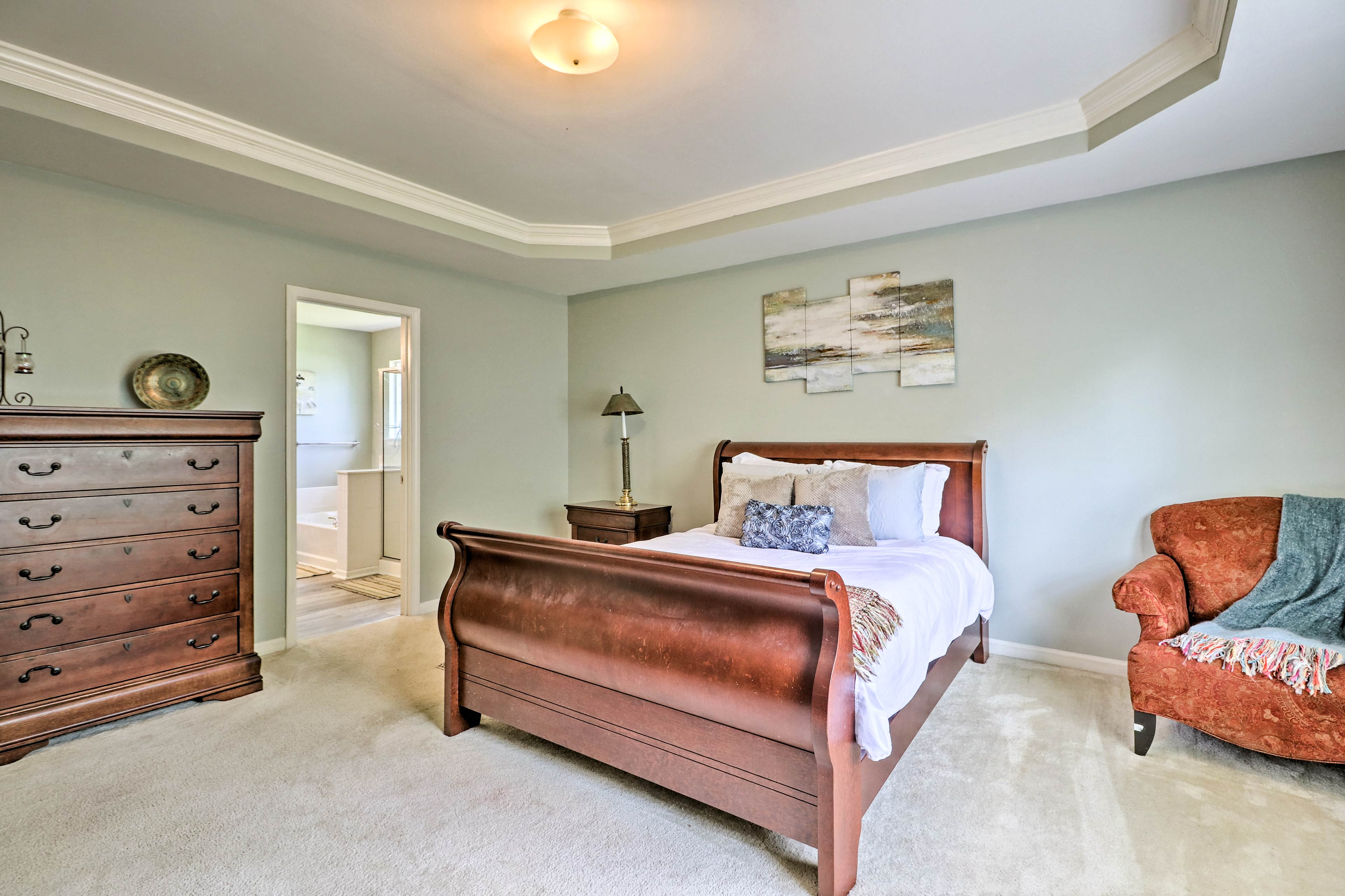 Sleep peacefully in the master bedroom.