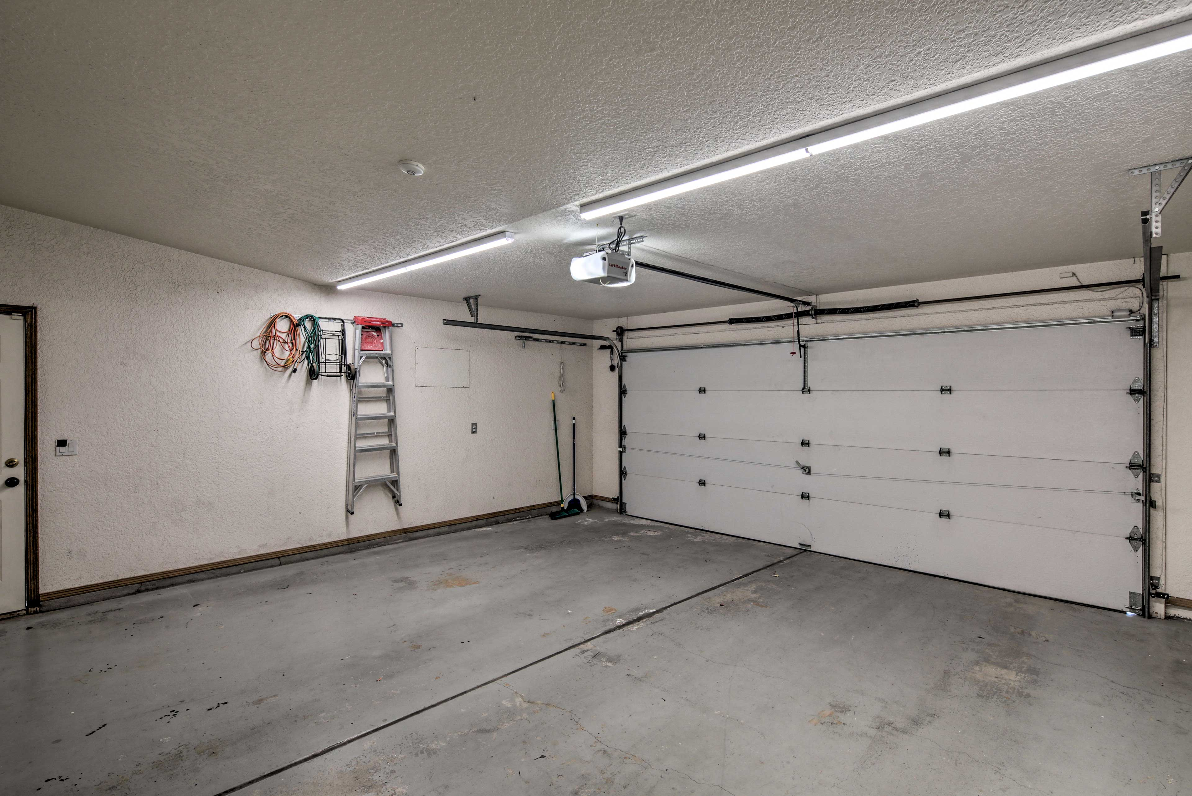 Garage parking is available so you can keep your cars out of the sun!