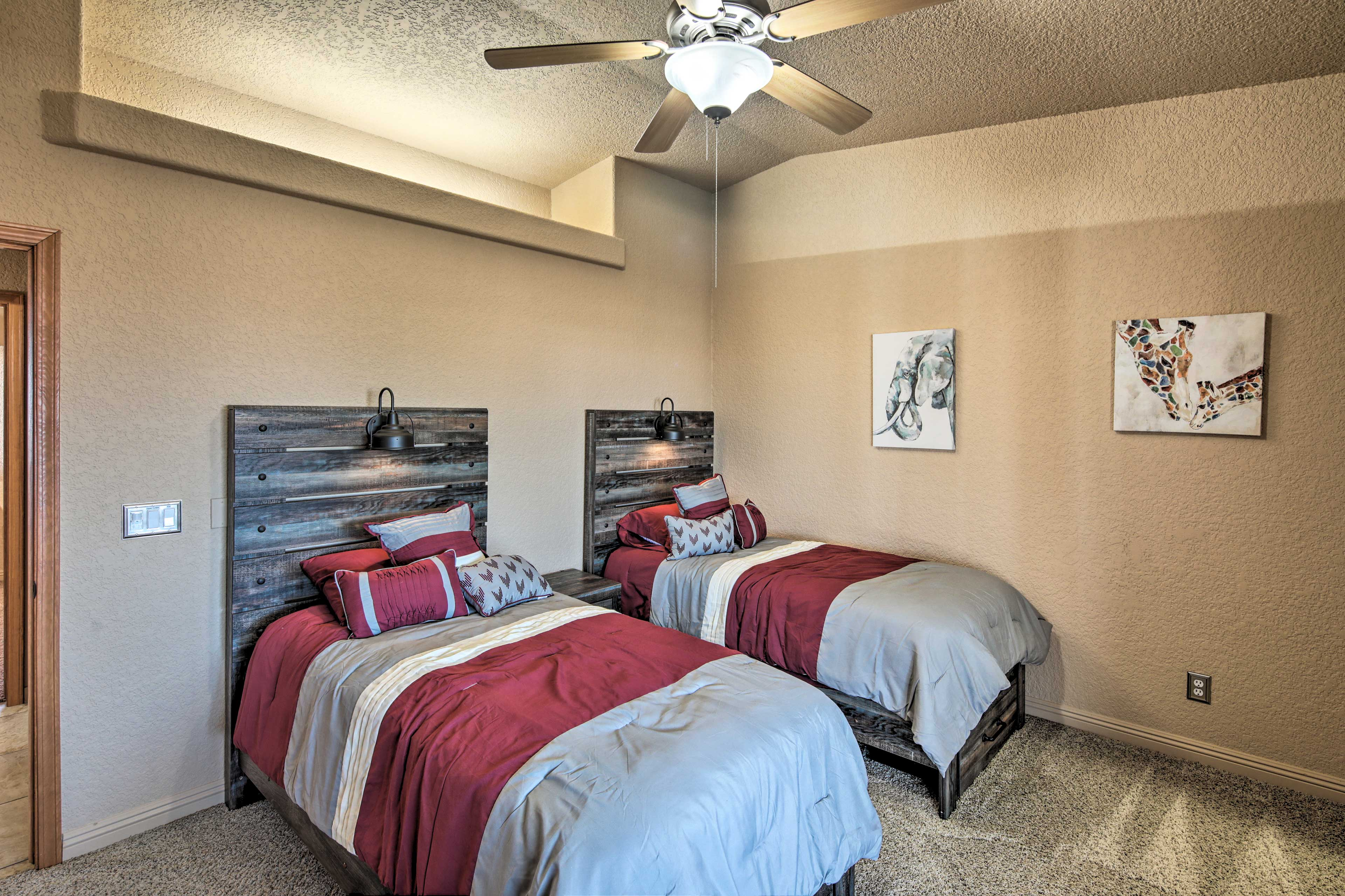 The kids are sure to love the 2 twin beds in the third bedroom.