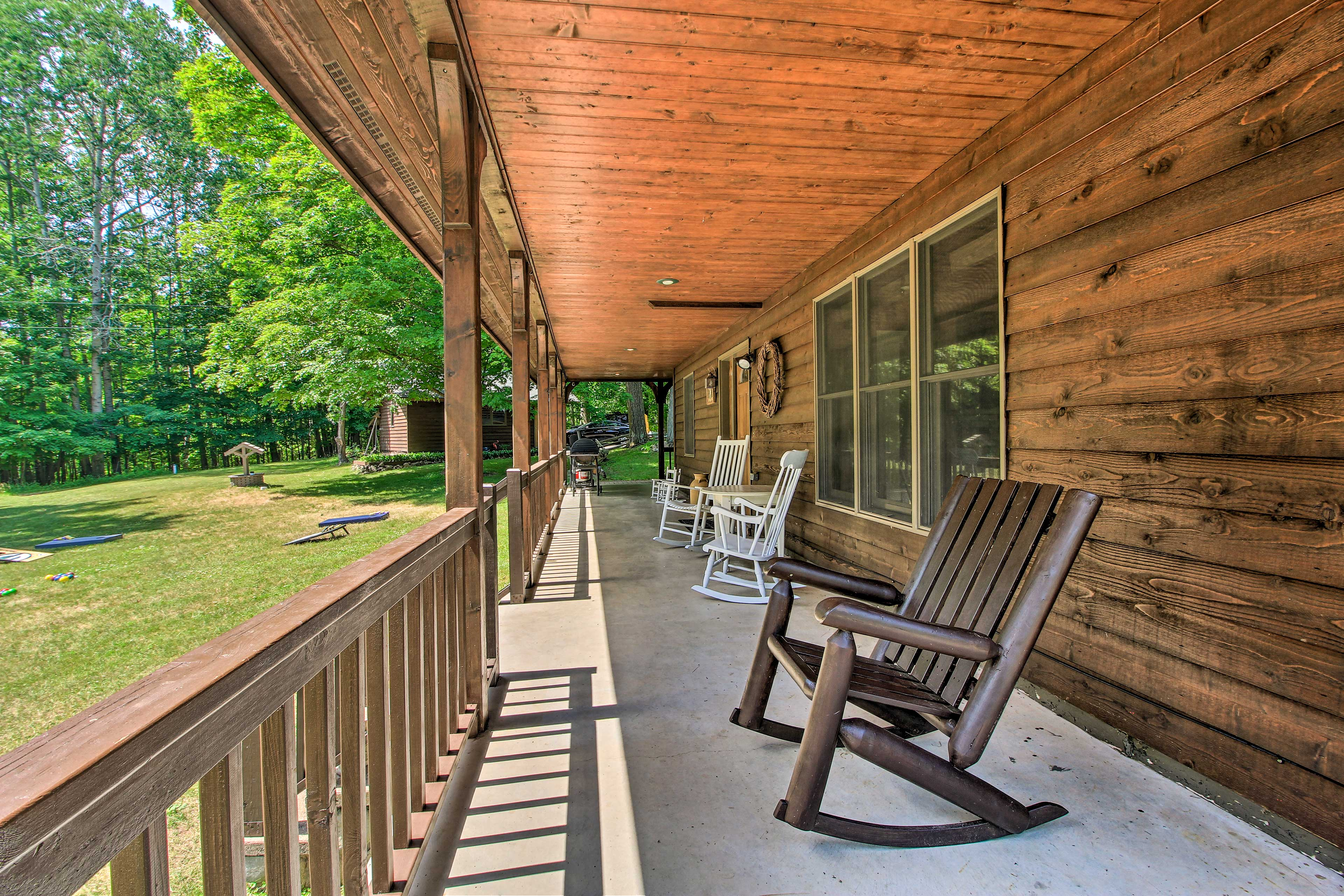Kick back with your morning coffee on the porch.