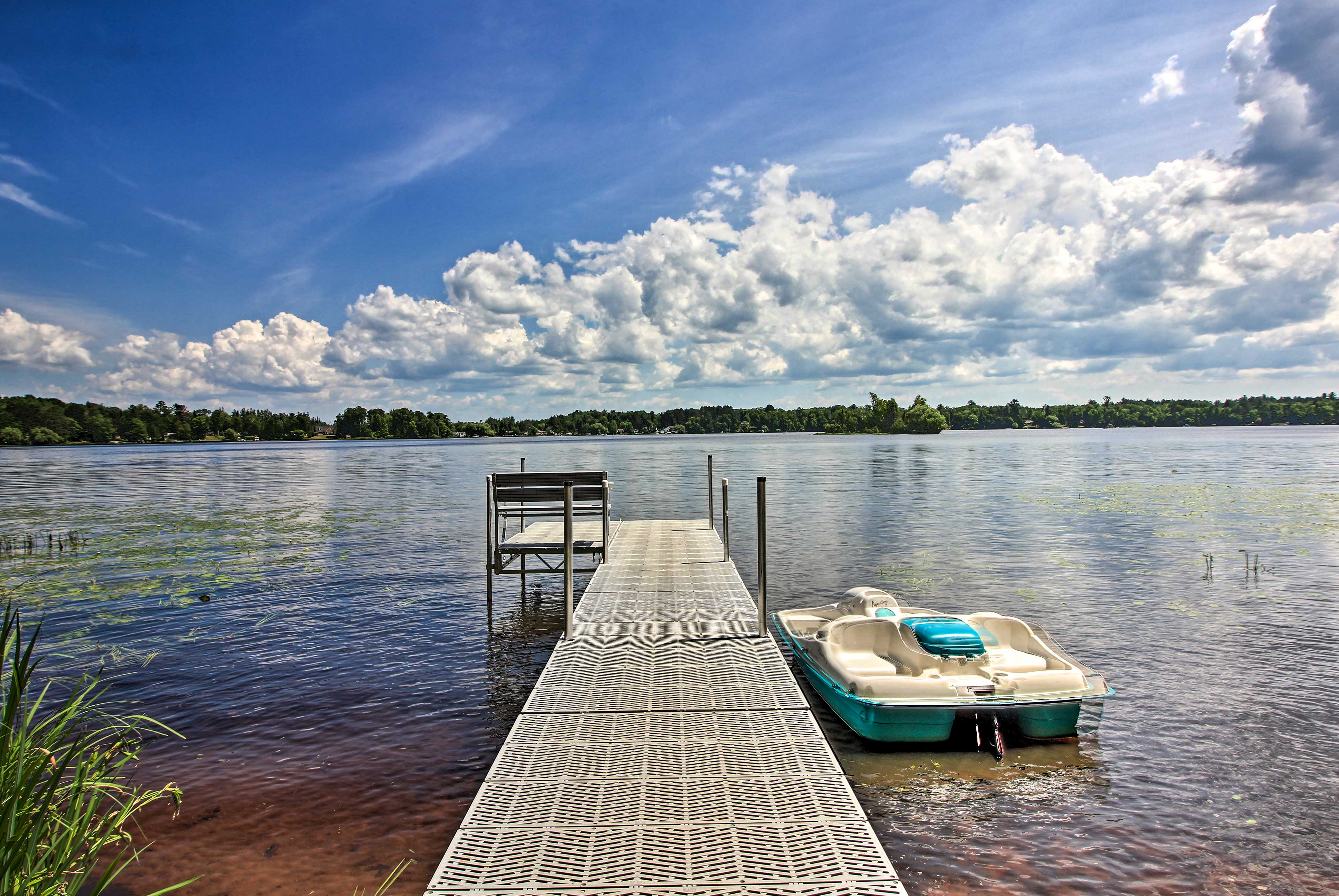 Launch lake adventures throughout your stay.