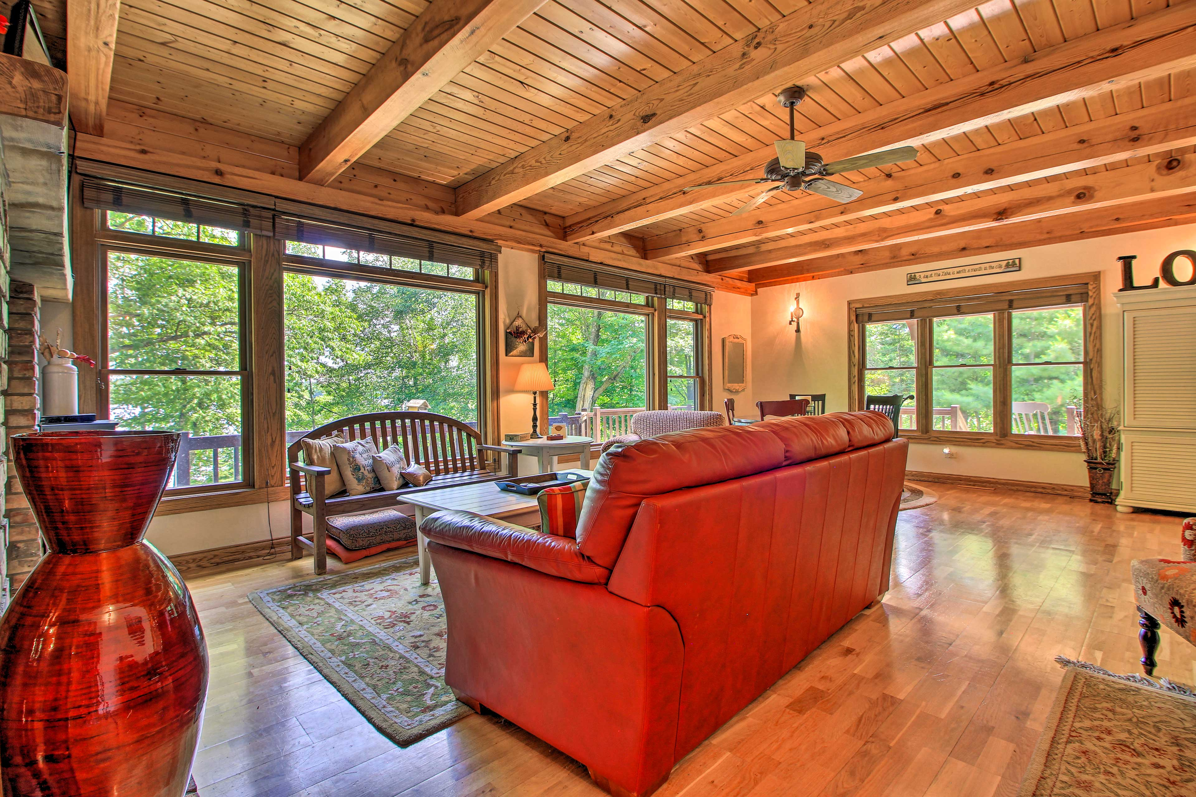 The spacious living room is perfect for relaxing.