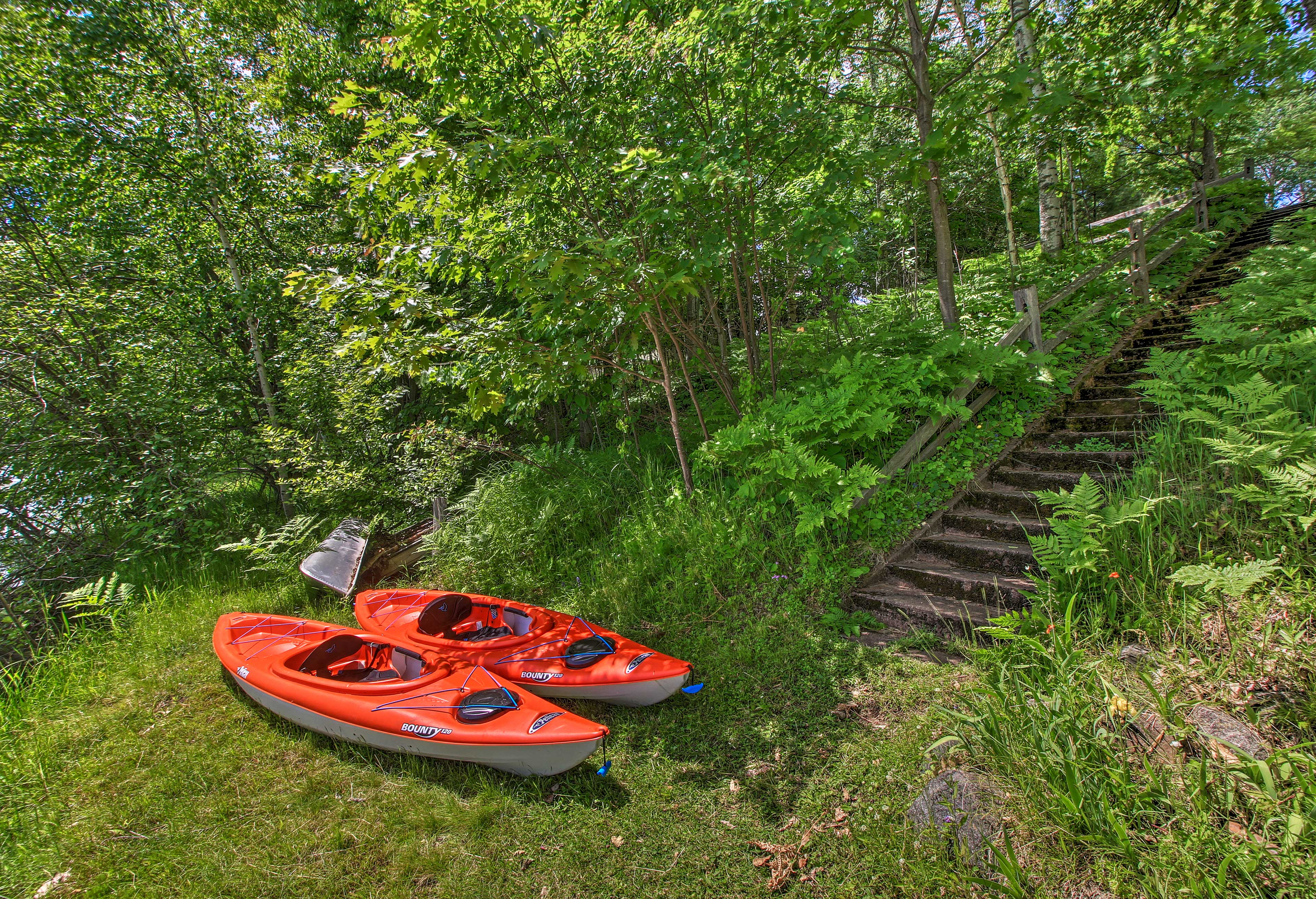 Kayaks, a canoe, and a paddle boat will be provided.