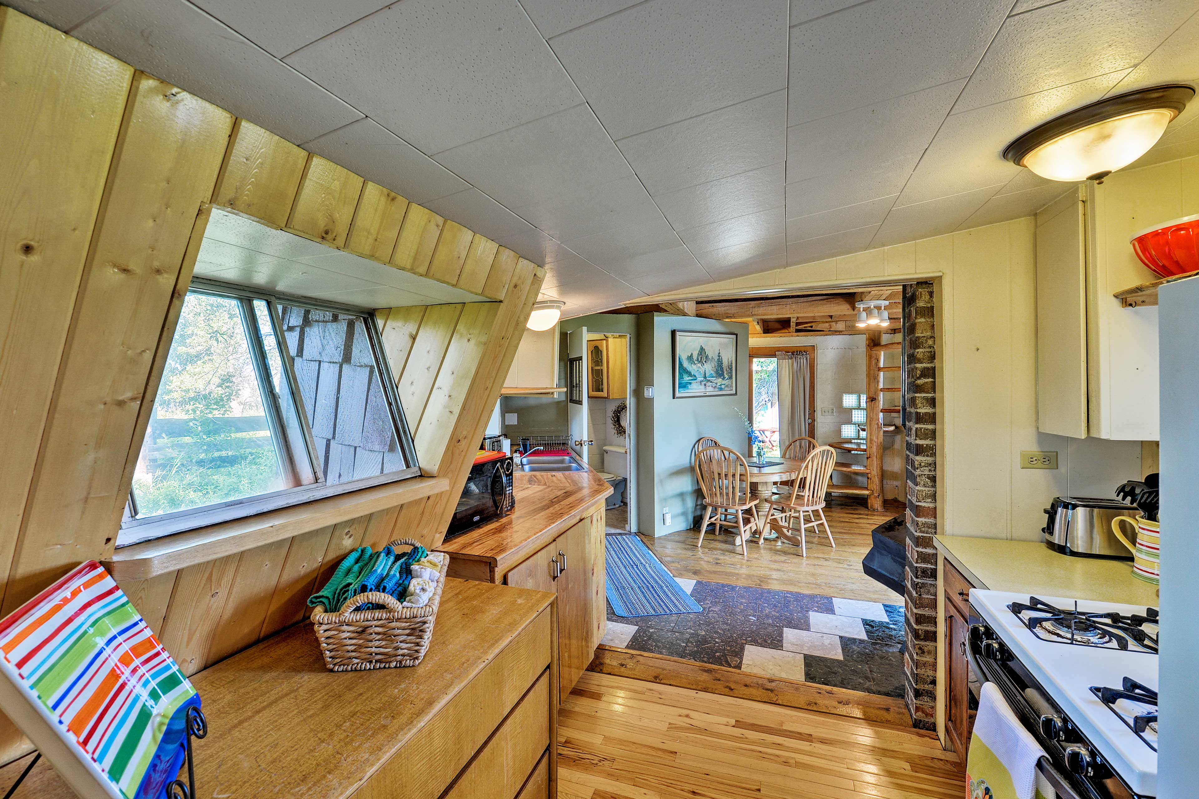 Savor the views and mountain air from the kitchen's windows.