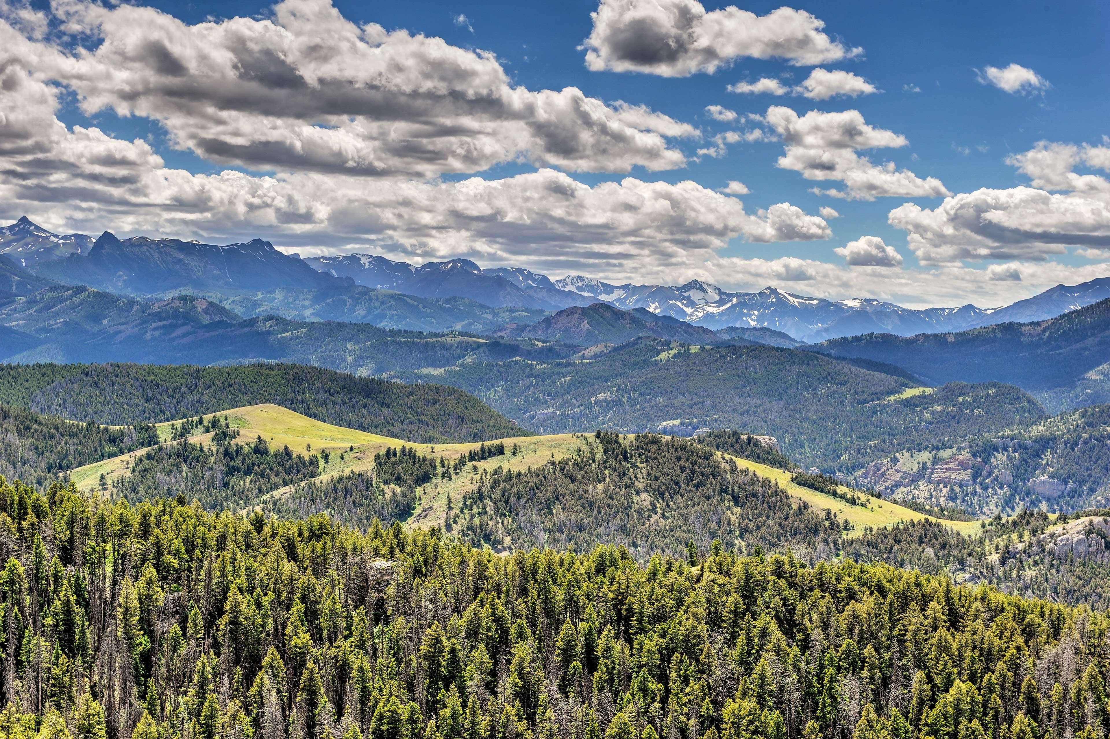 Breathtaking mountain views abound.