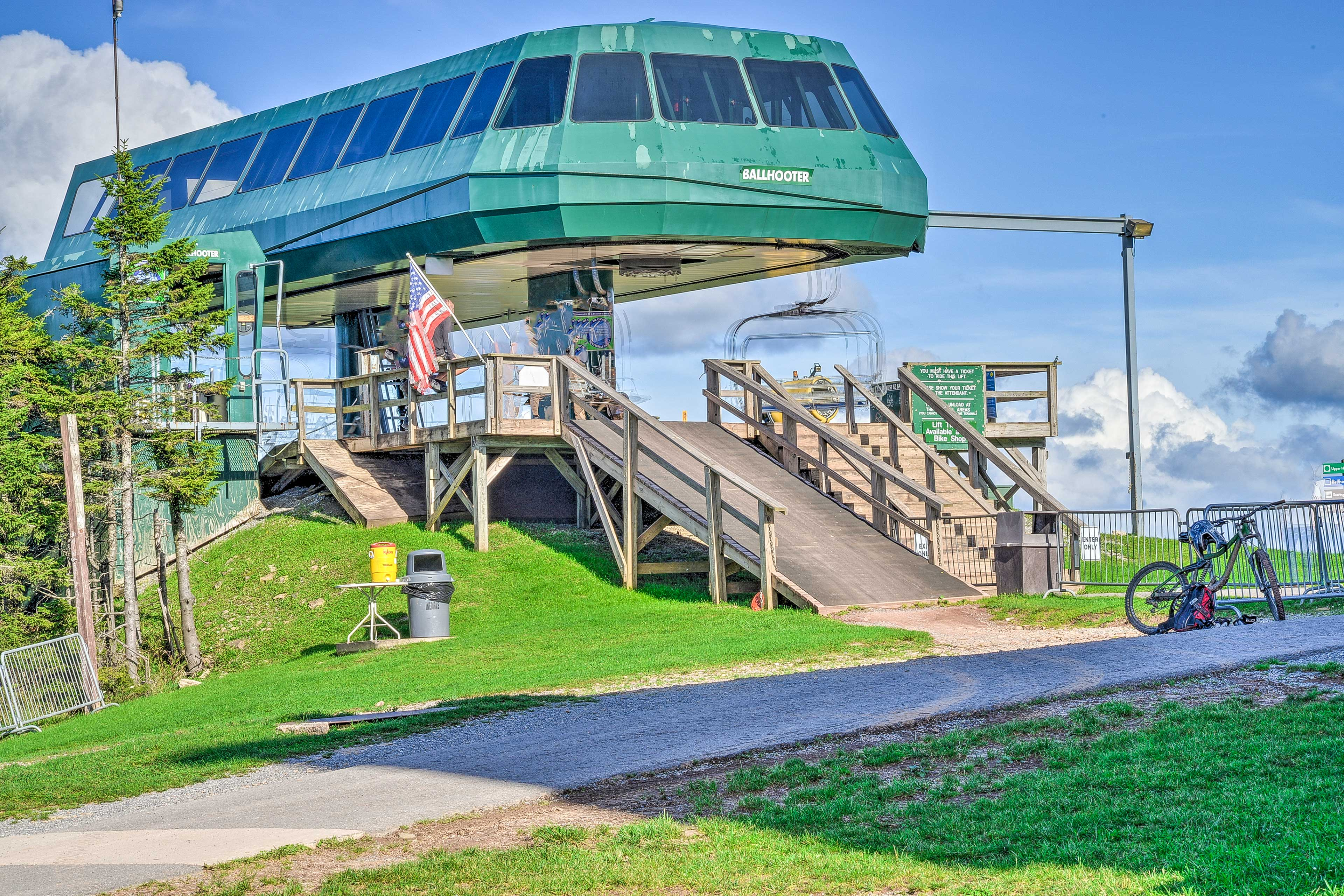 The ski lift is just a quick walk away from the vacation rental.