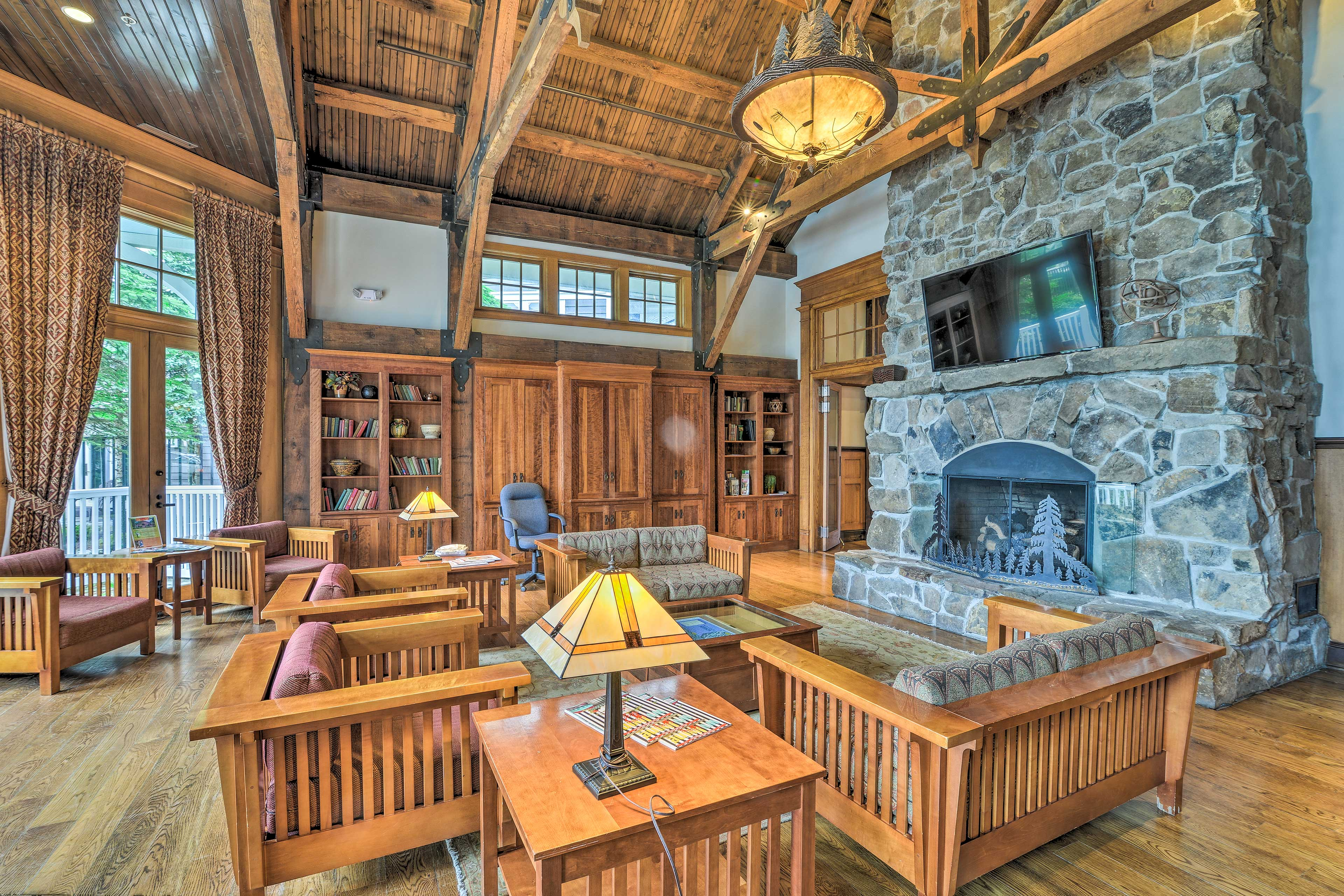 Kill a little time while reading a book or lounging in front of the fireplace.