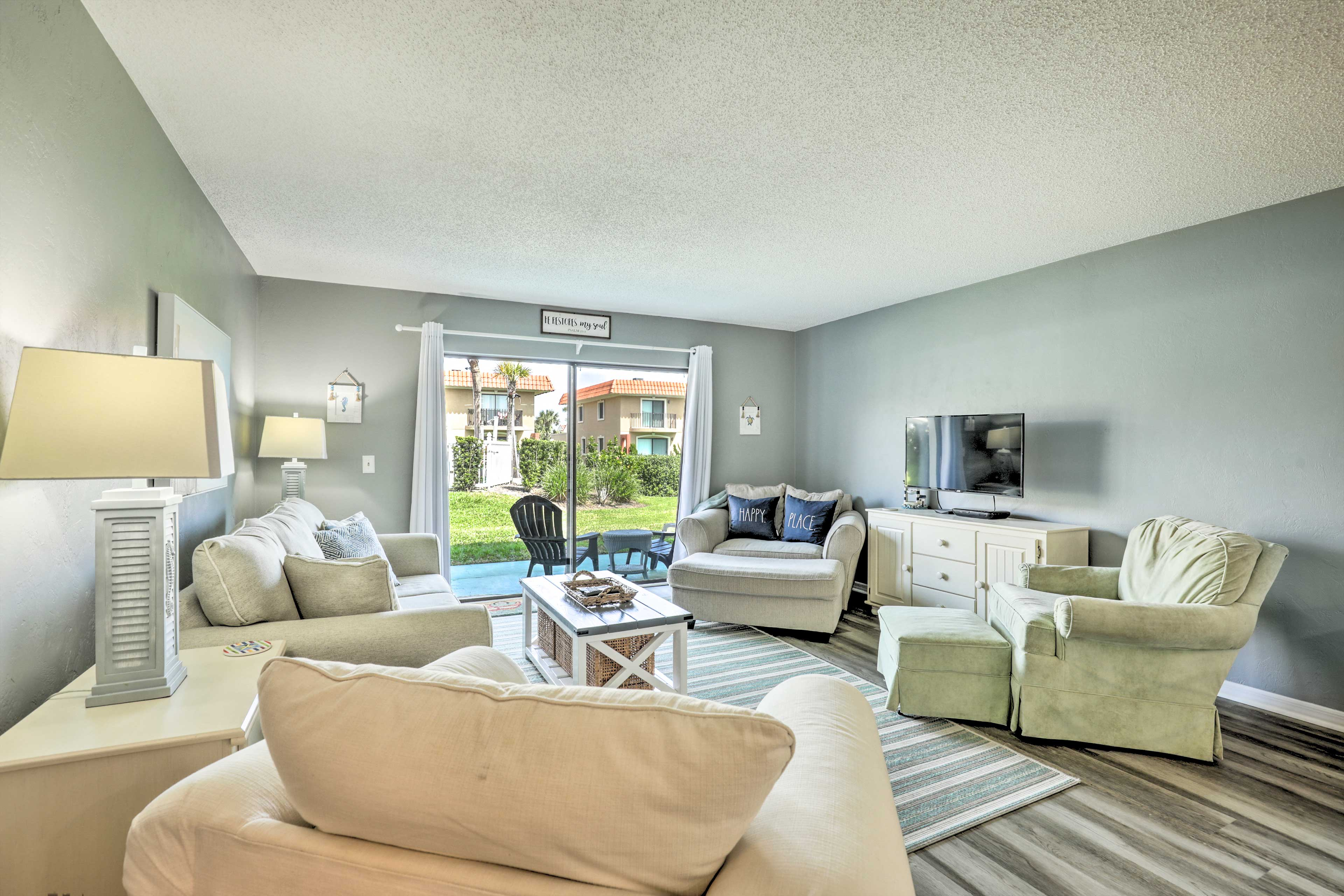 Call St. Augustine home for a short or long stay at this charming townhome.