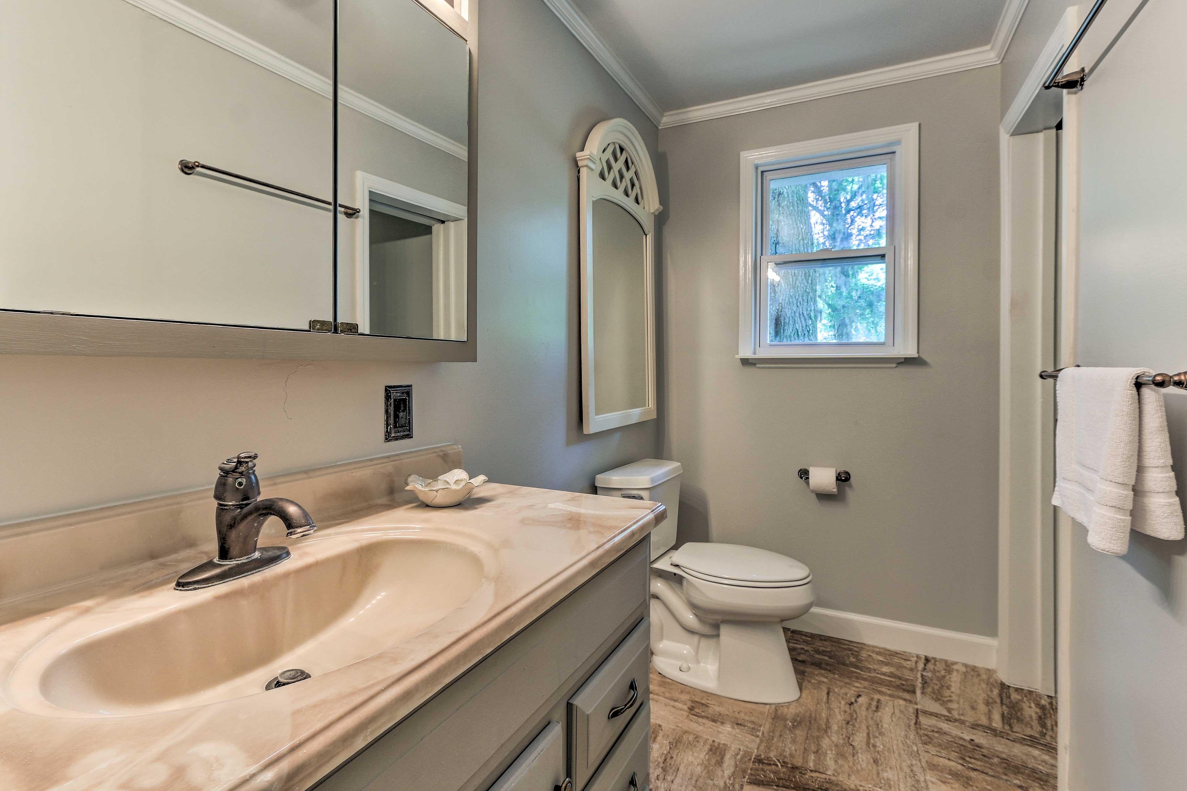 This home has 3 pristine bathrooms.