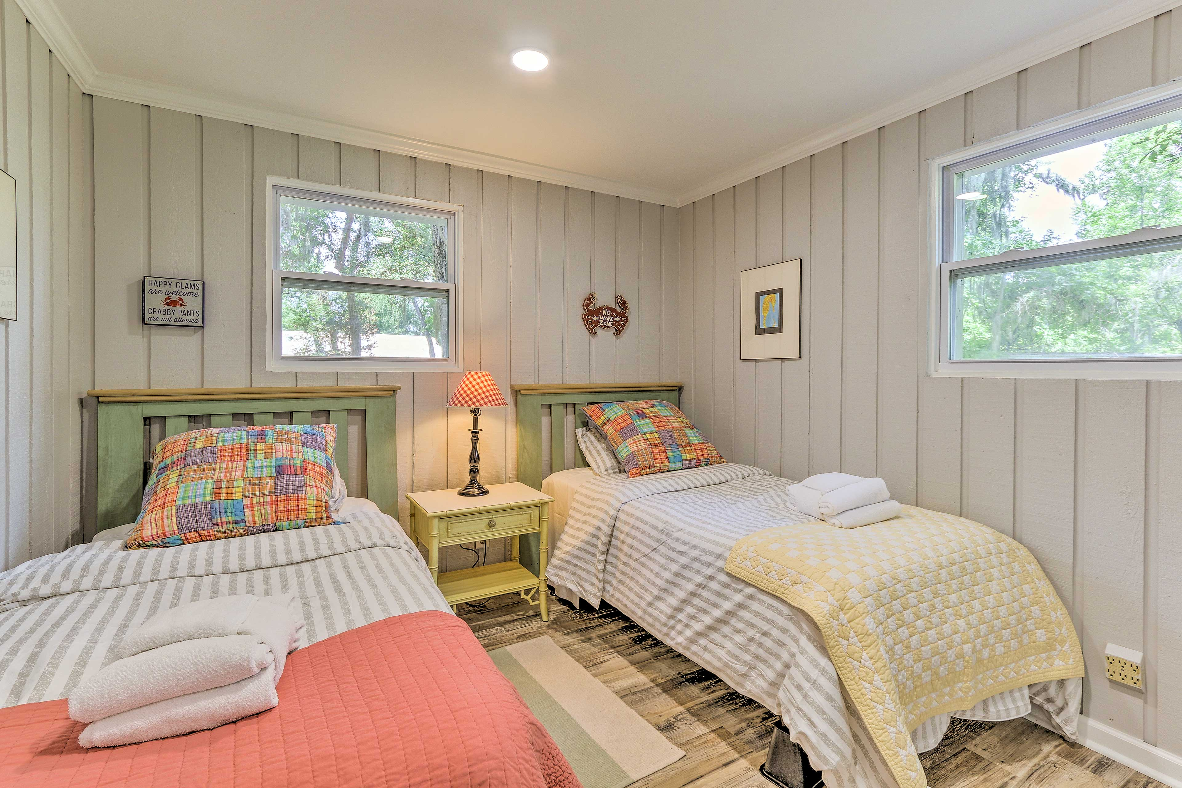 The kids will enjoy these twin beds.