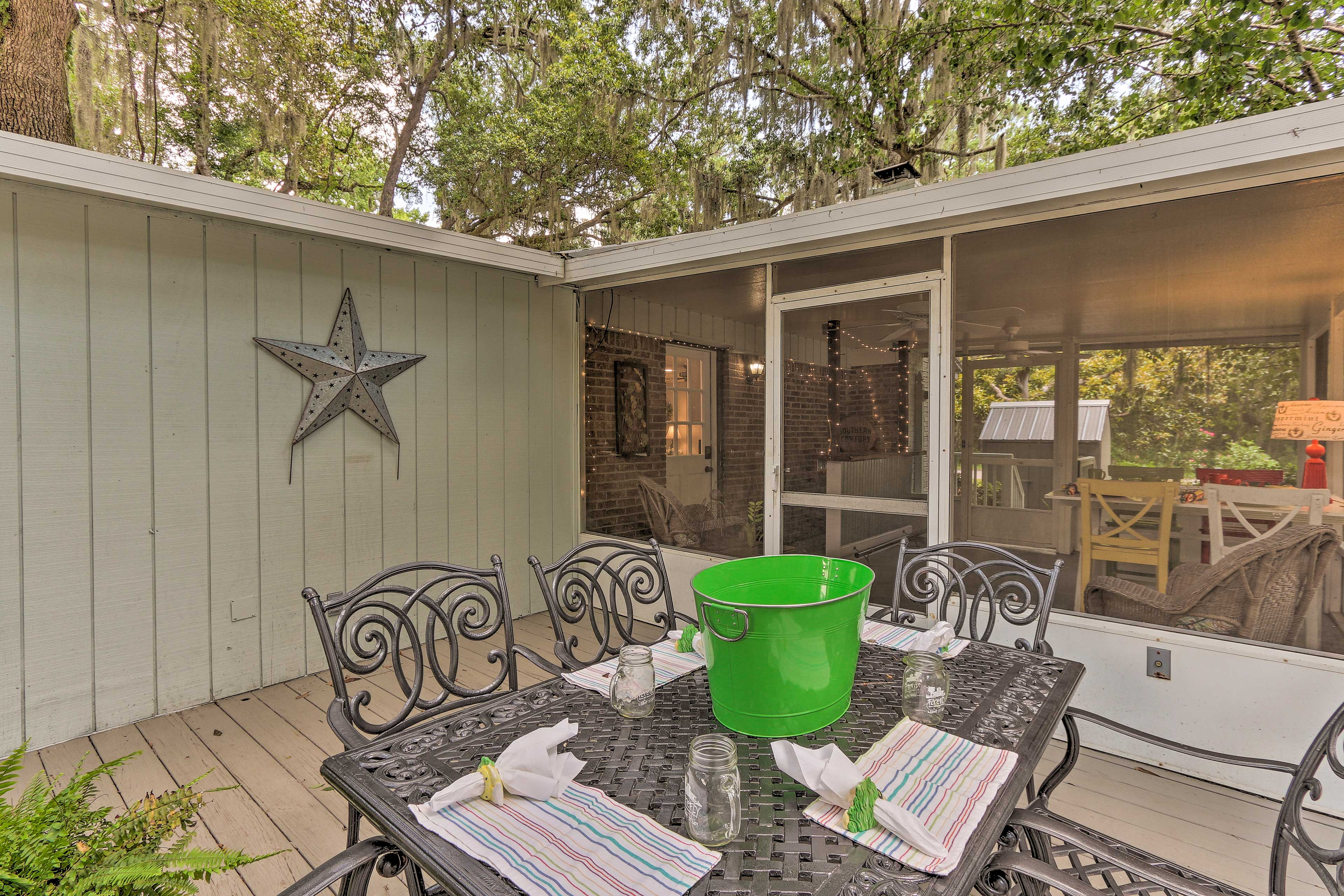 Sip a cocktail on the back deck!