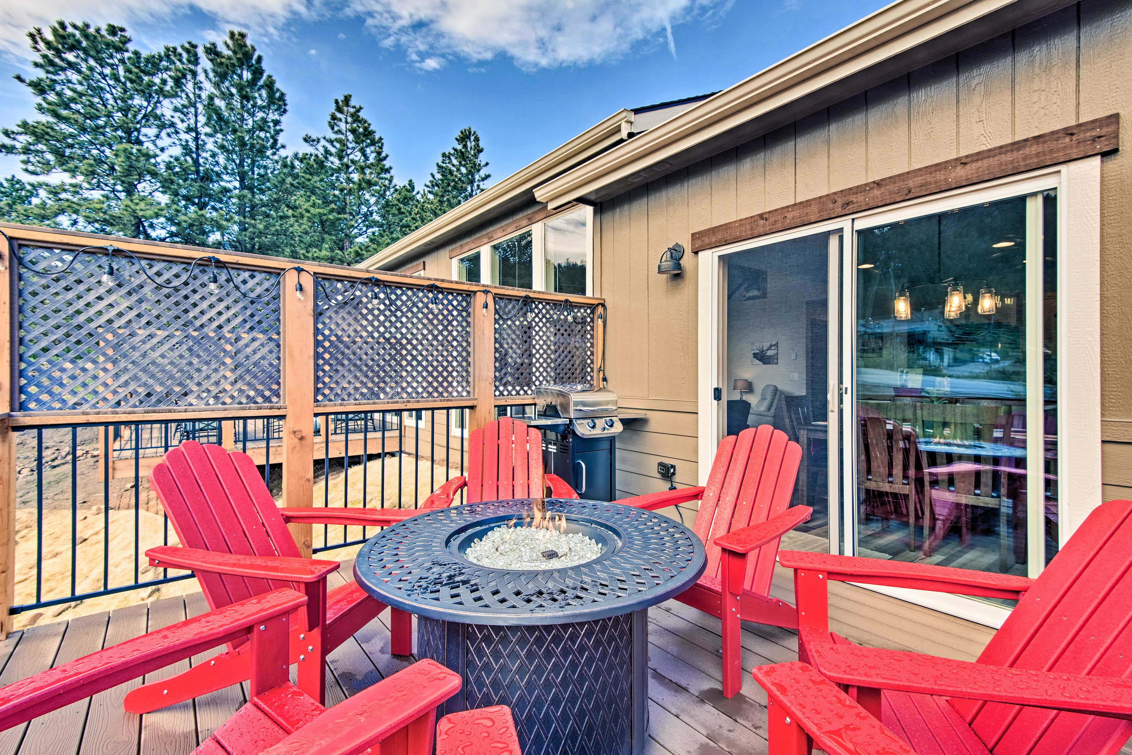 Mountain views paint the backdrop for the back deck!
