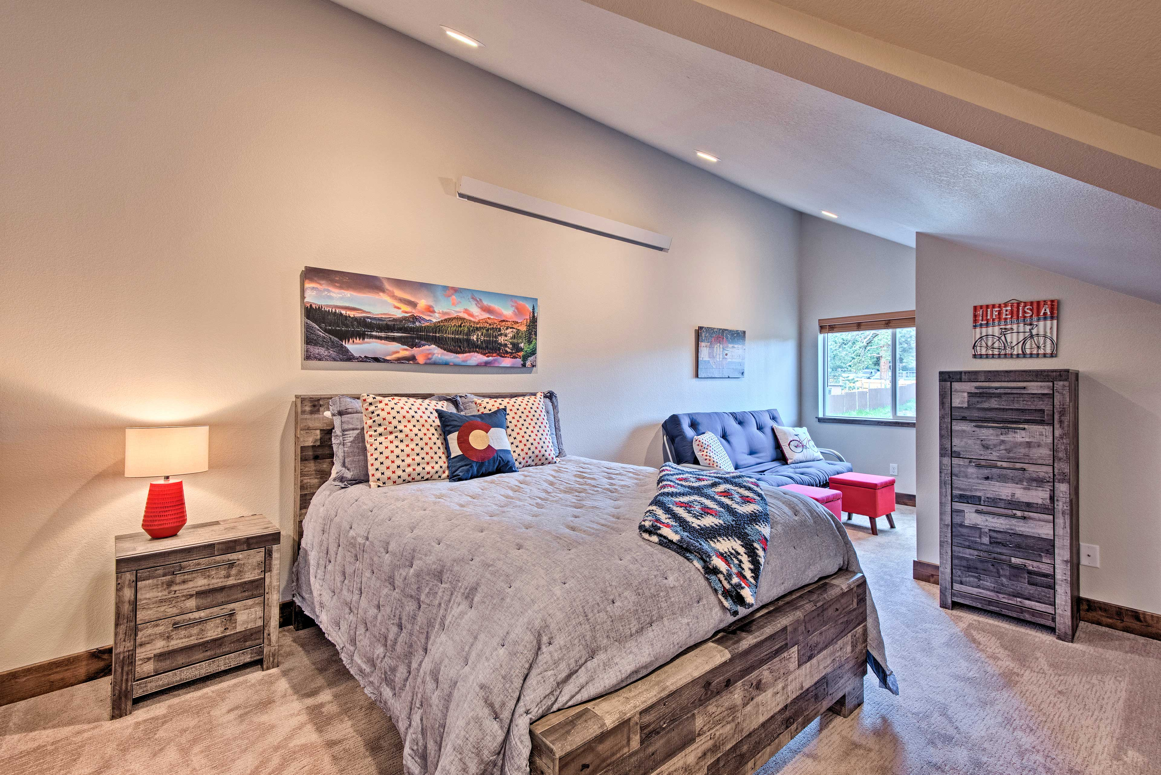 The second bedroom accommodates up to 4 travelers.