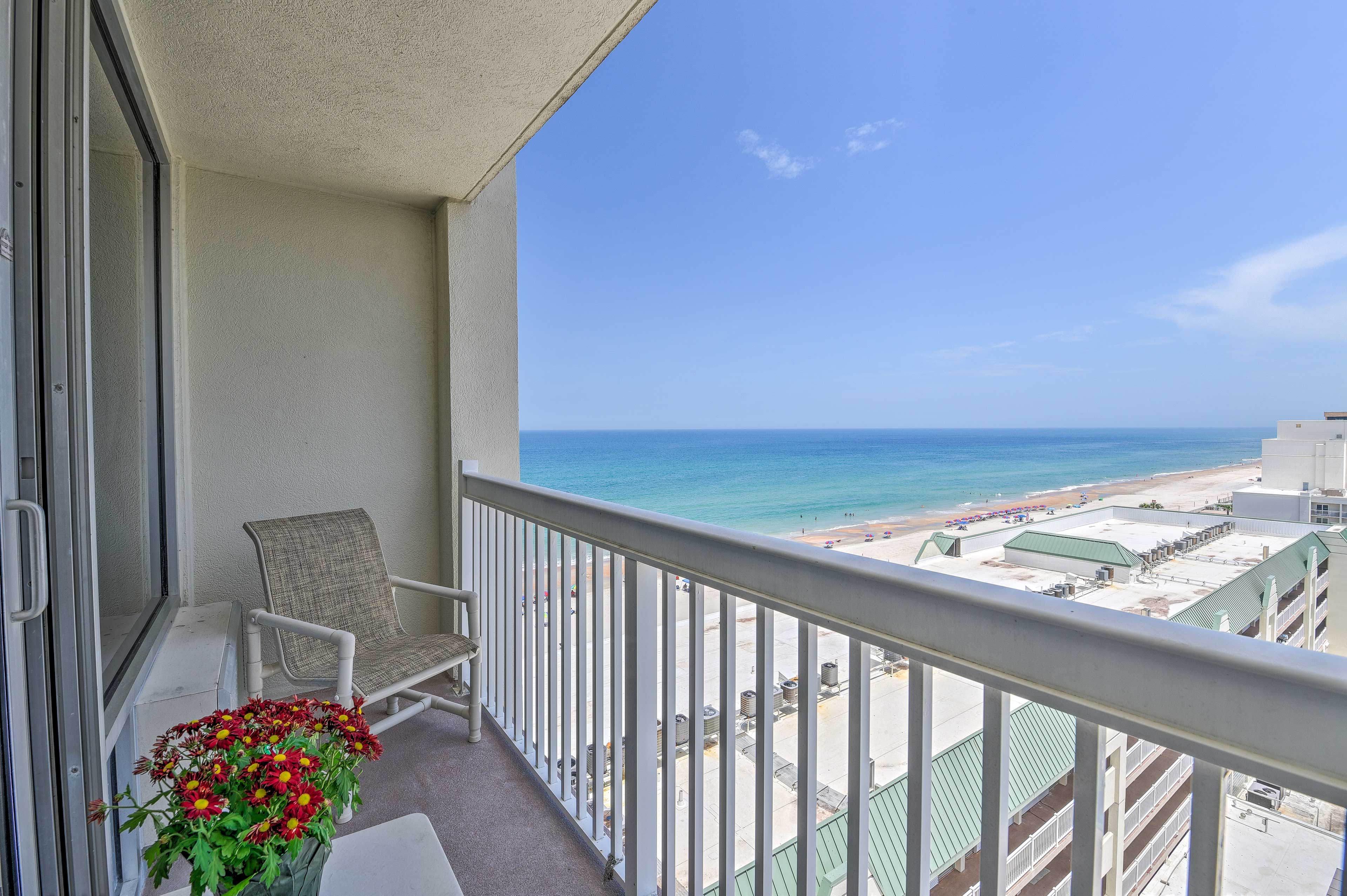 Wake up to this view every morning of your stay in Daytona Beach!