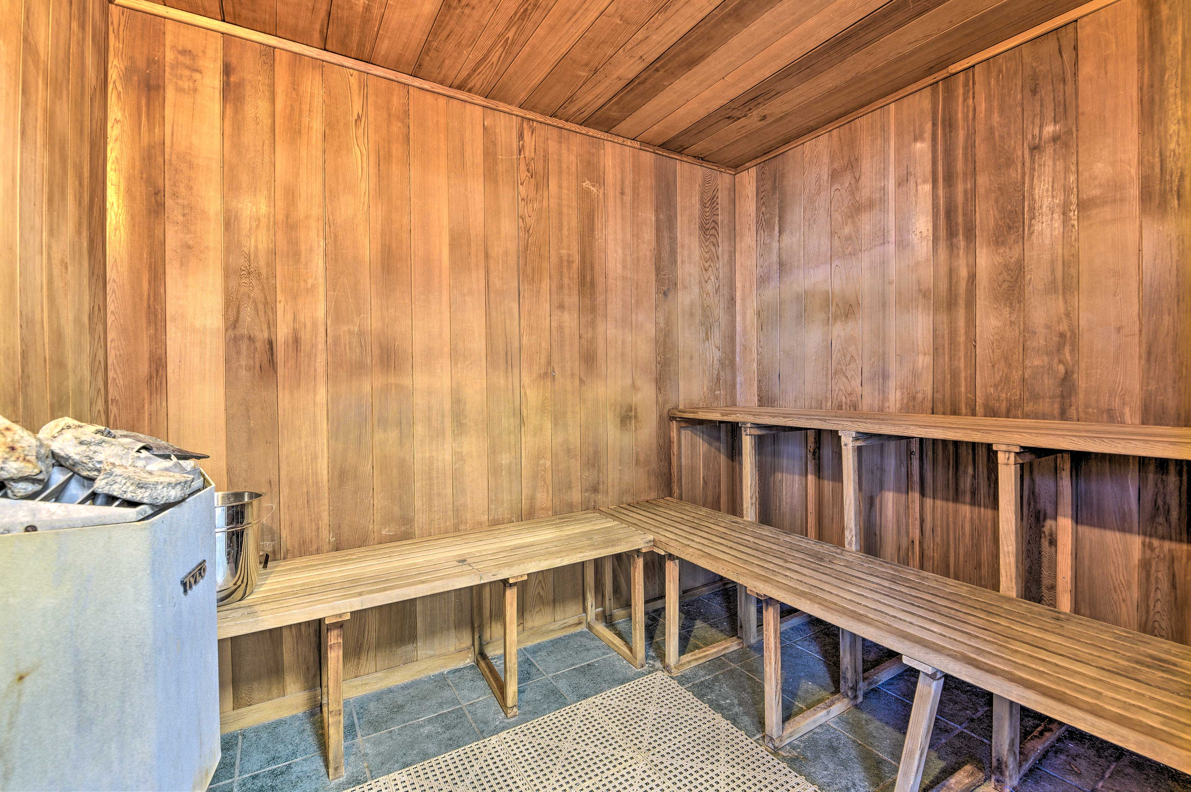 Relax in the sauna after a good workout or just as an addition to the day.