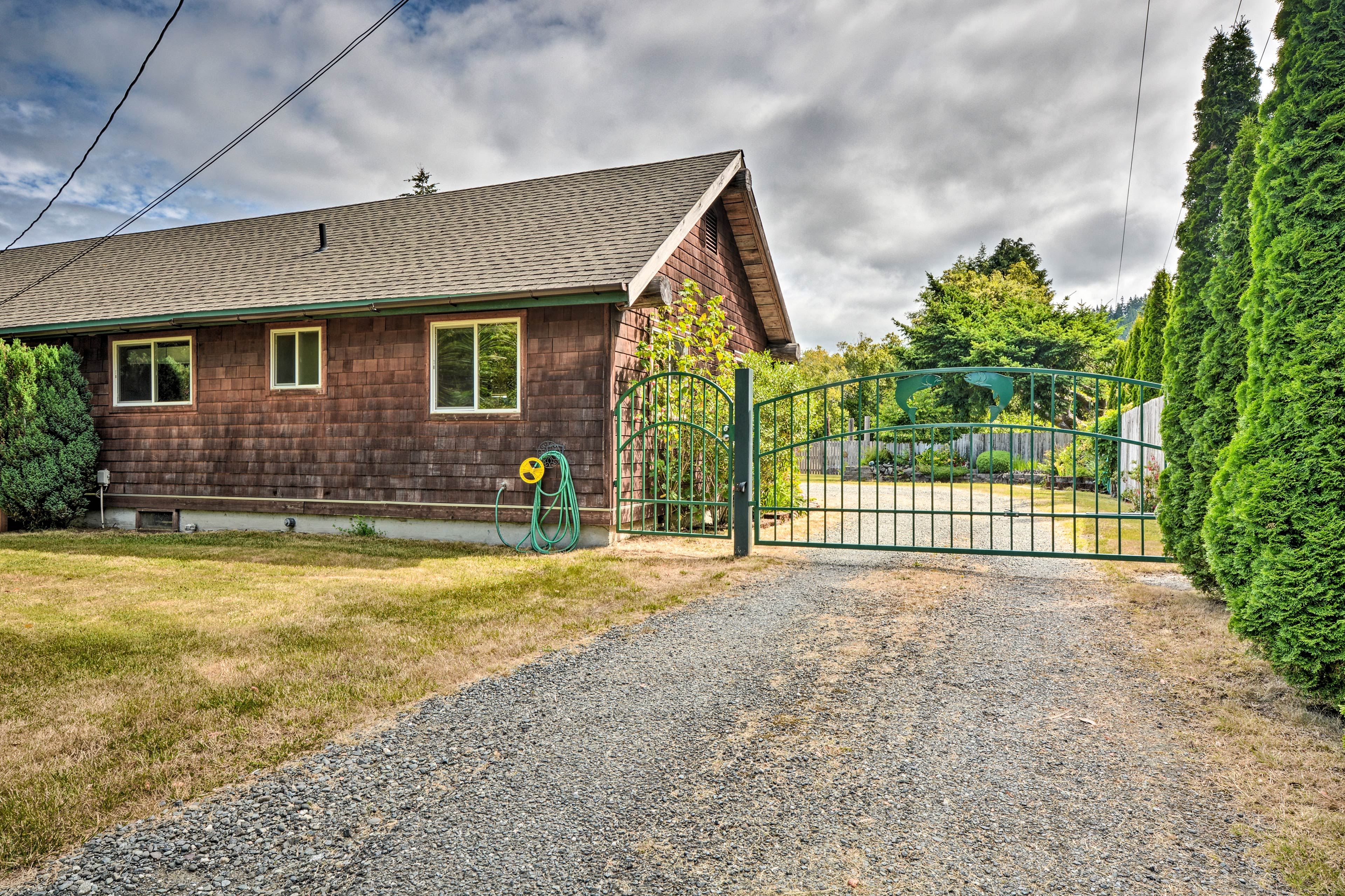Find this home safely secured by a gate.