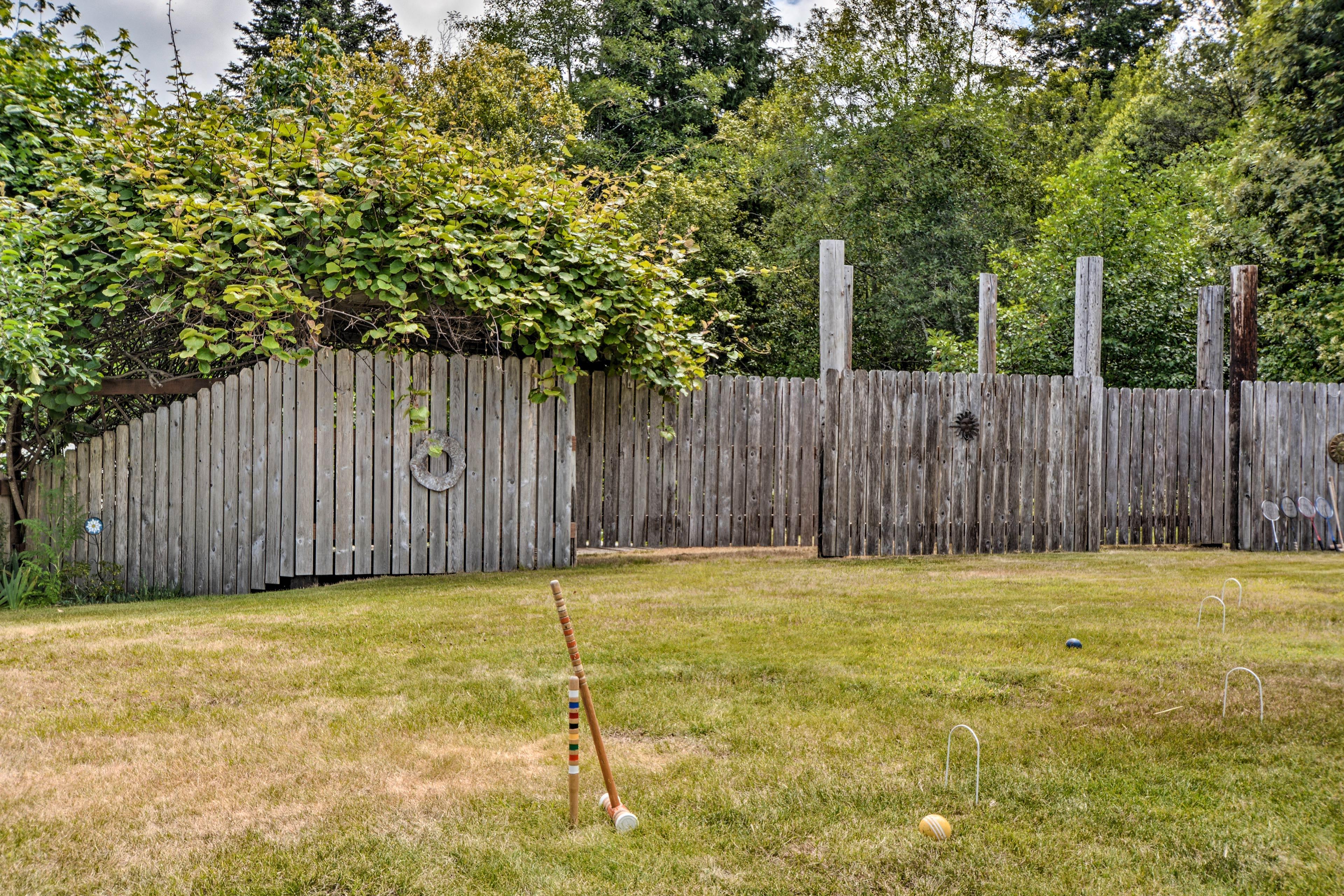 Practice your croquet skills.