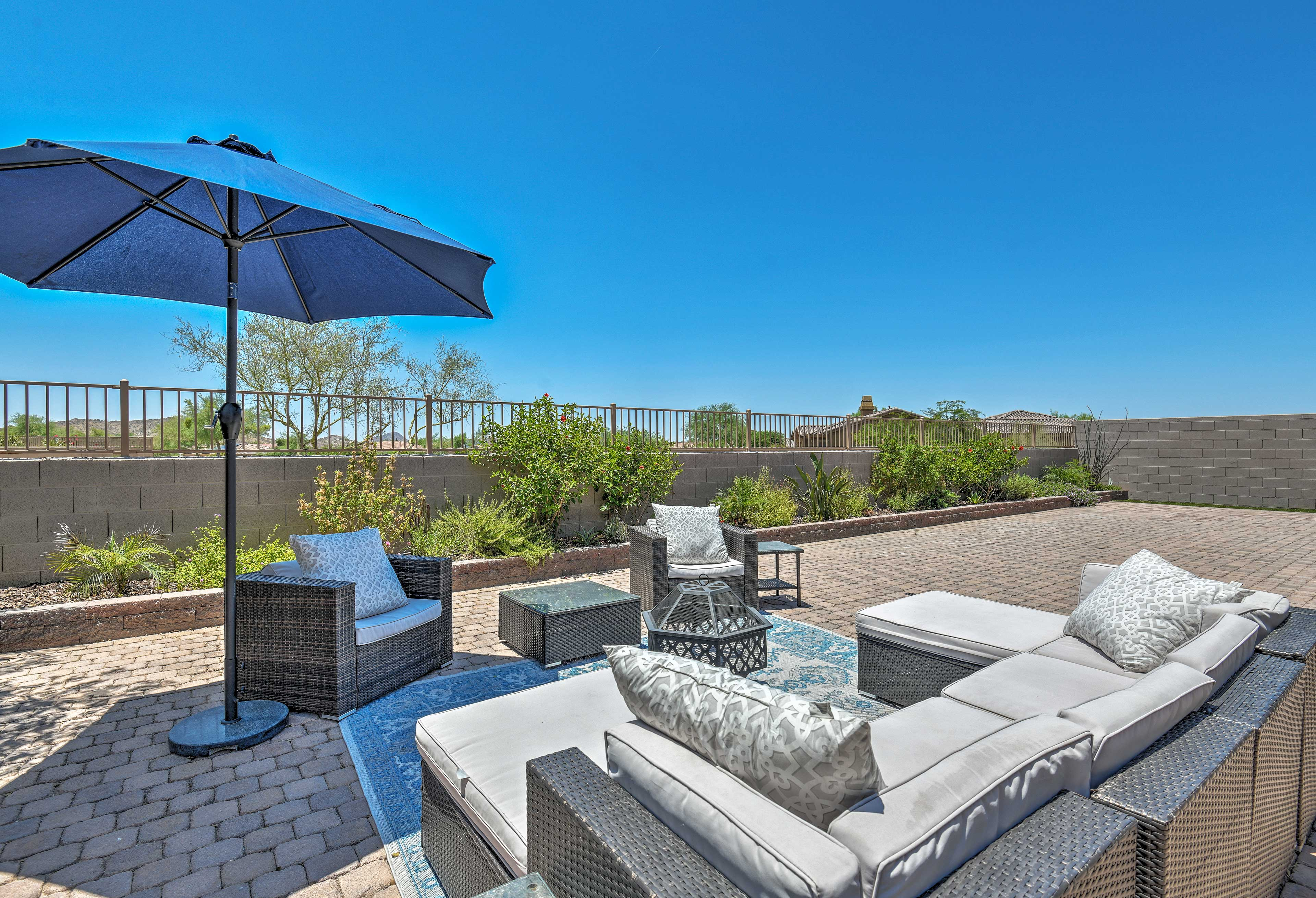 The furnished backyard is sure to be a crowd favorite.